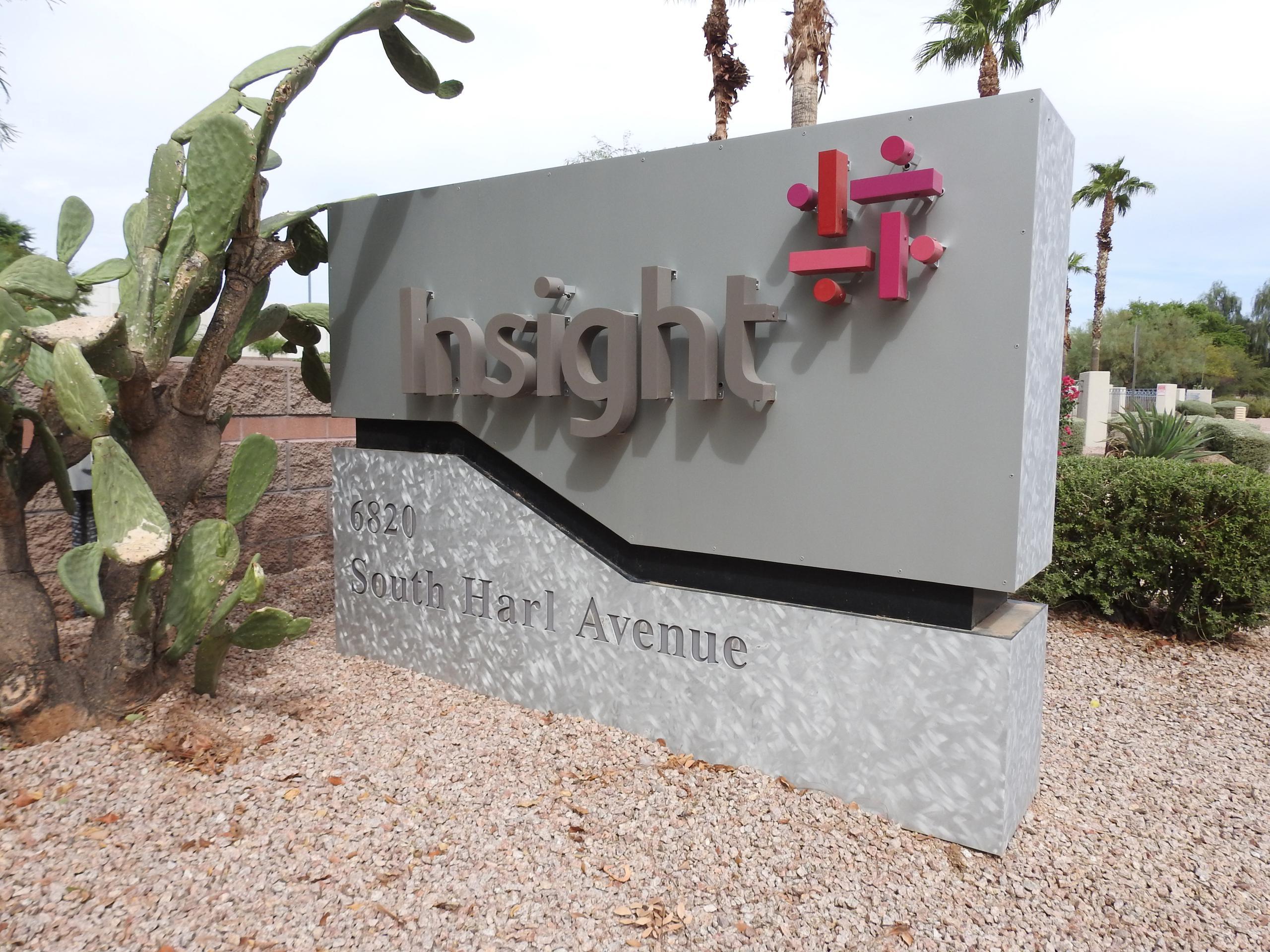 Entrance to Insight Enterprise's corporate headquarters in Tempe, Arizona.