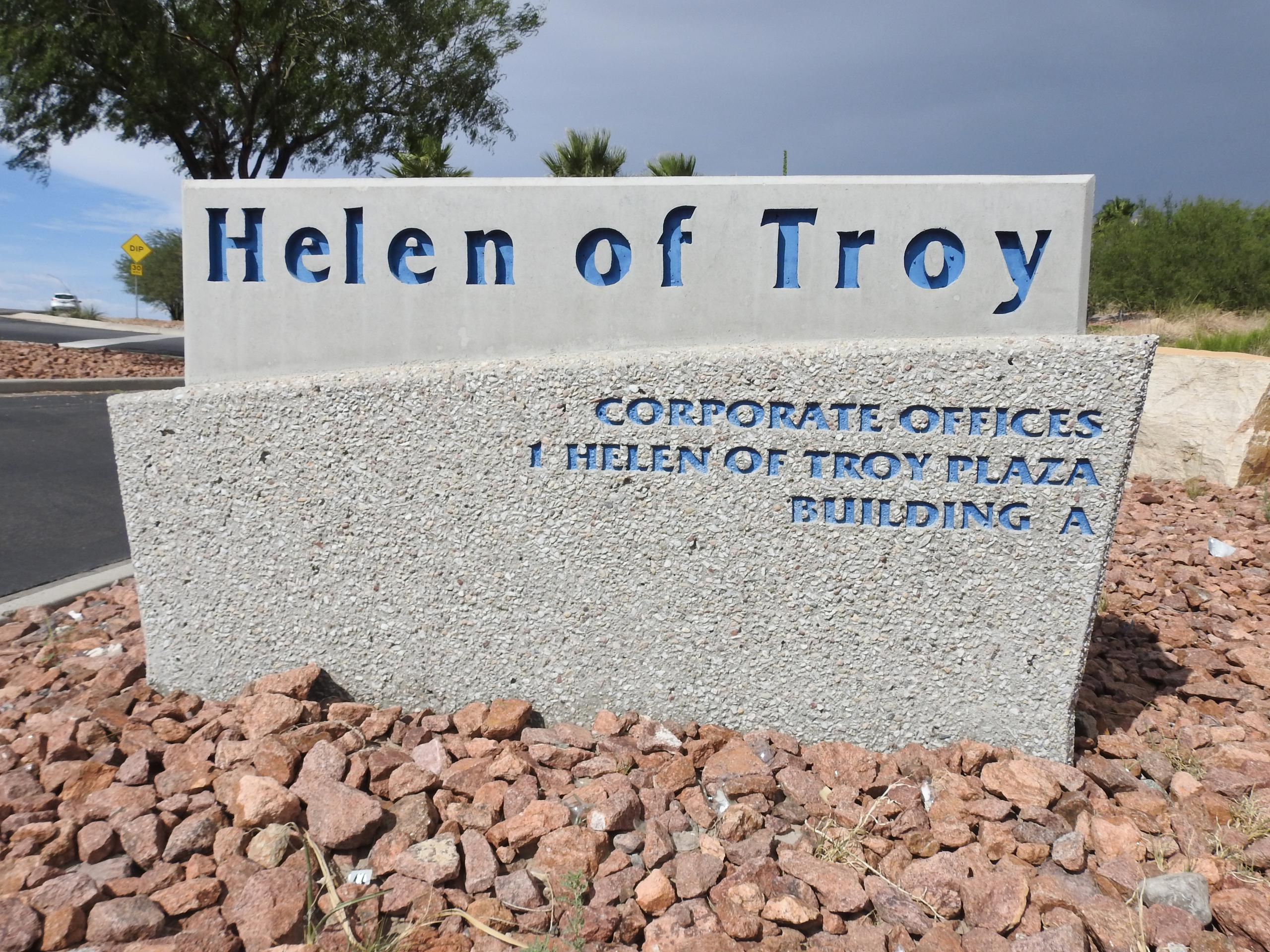 Entrance to Helen of Troy's corporate headquarters in El Paso, Texas.