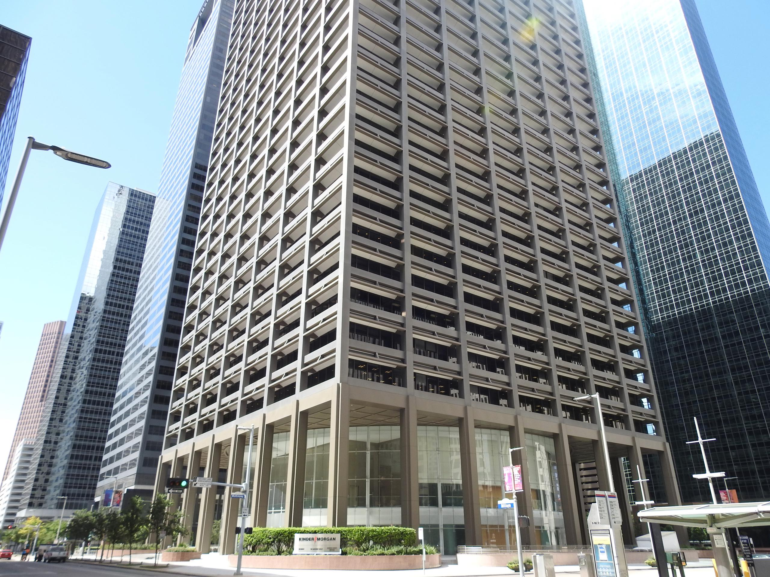 Kinder Morgan's corporate headquarters in downtown Houston, Texas.