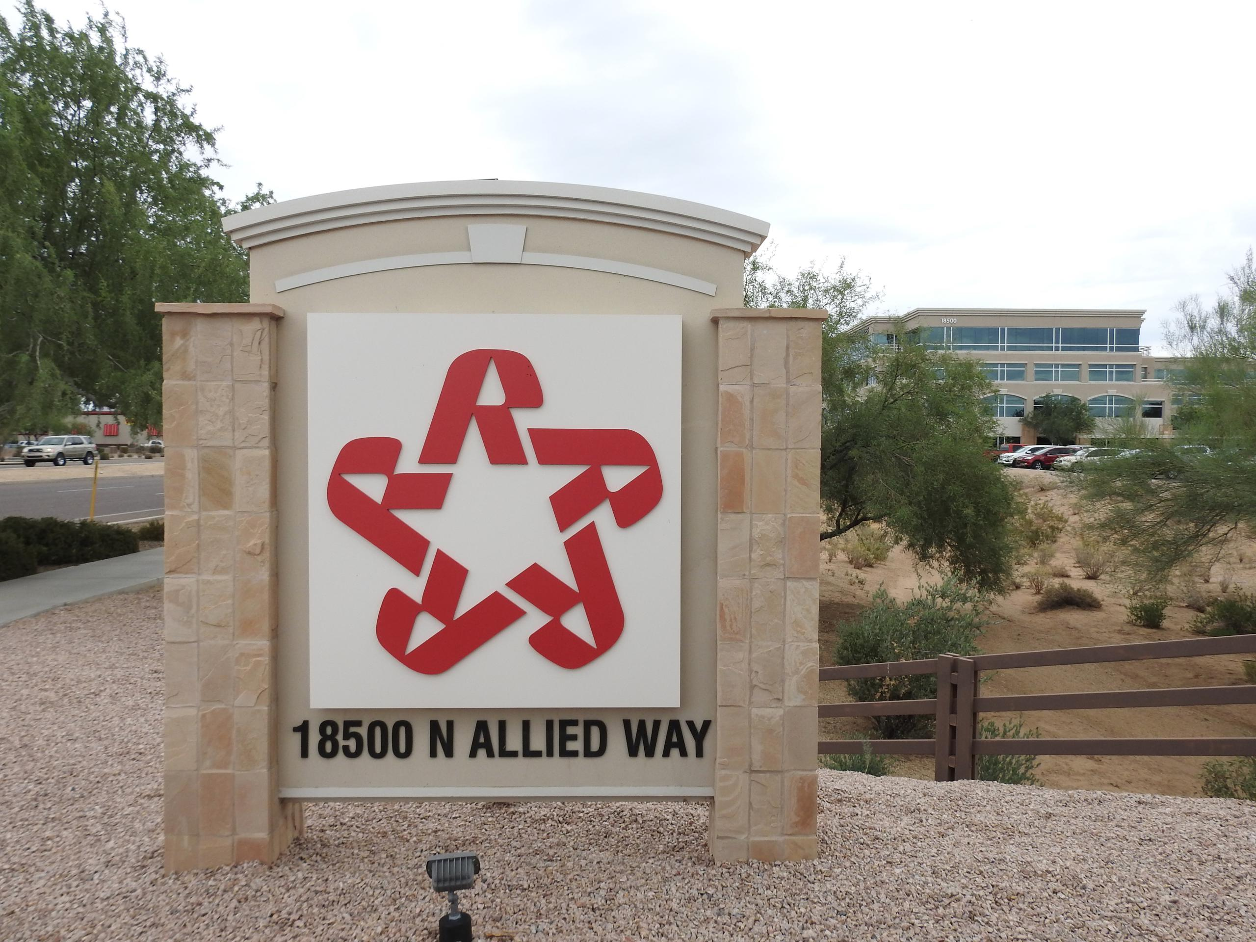 Entrance to Republic Services' corporate headquarters in Phoenix, Arizona.