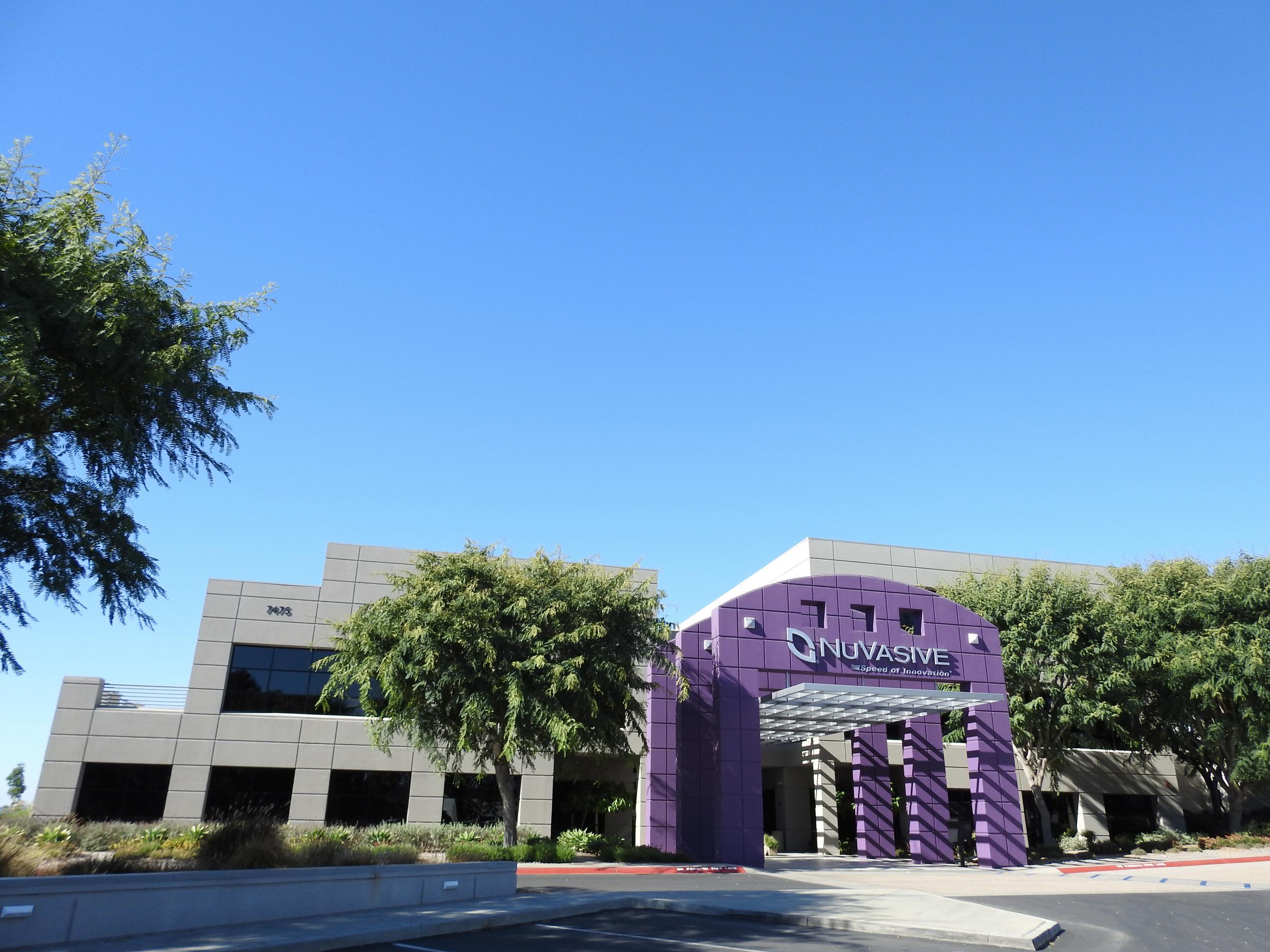 NuVasive's corporate headquarters in San Diego, California.