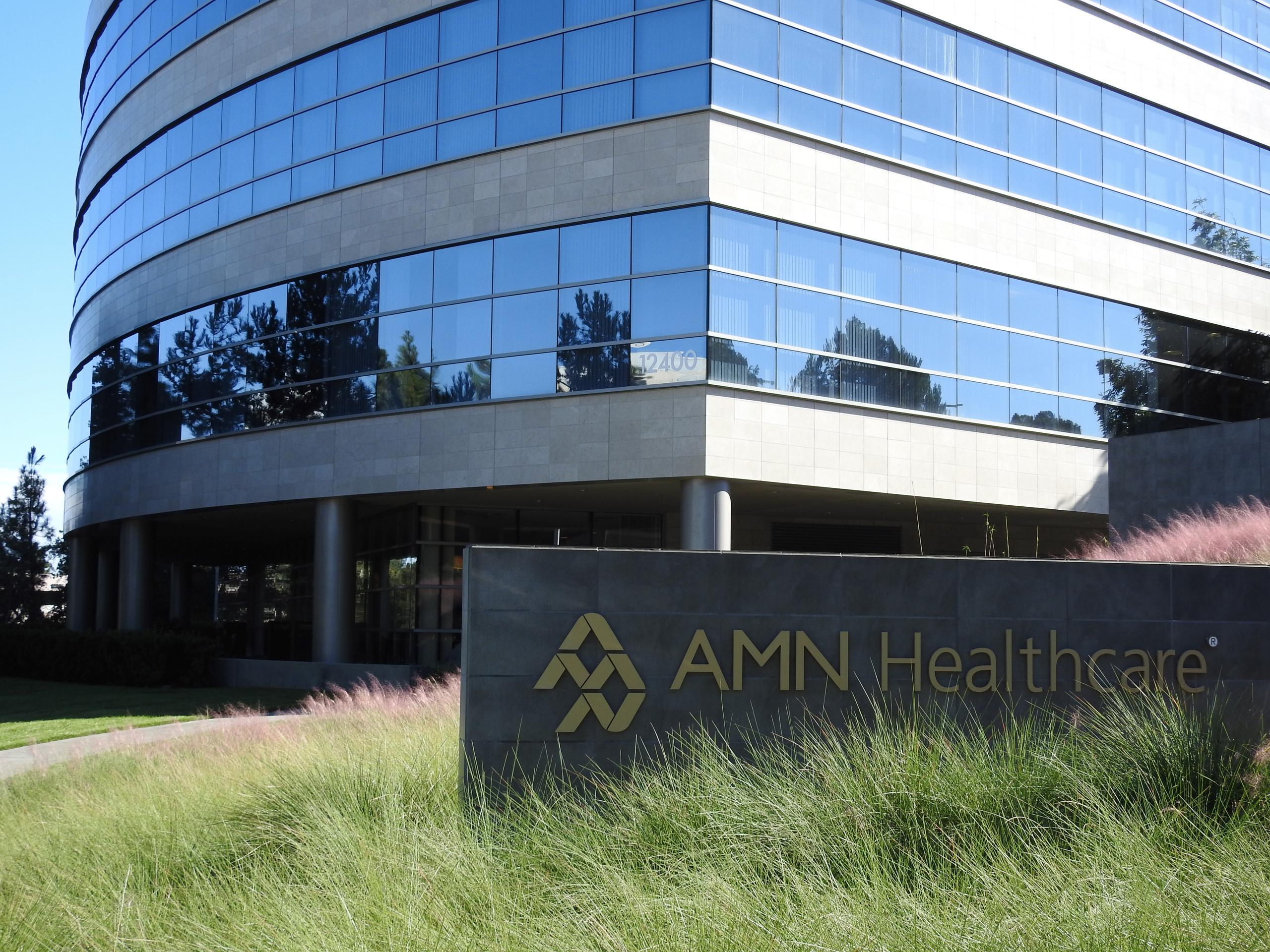 AMN Healthcare's corporate headquarters in San Diego, California.