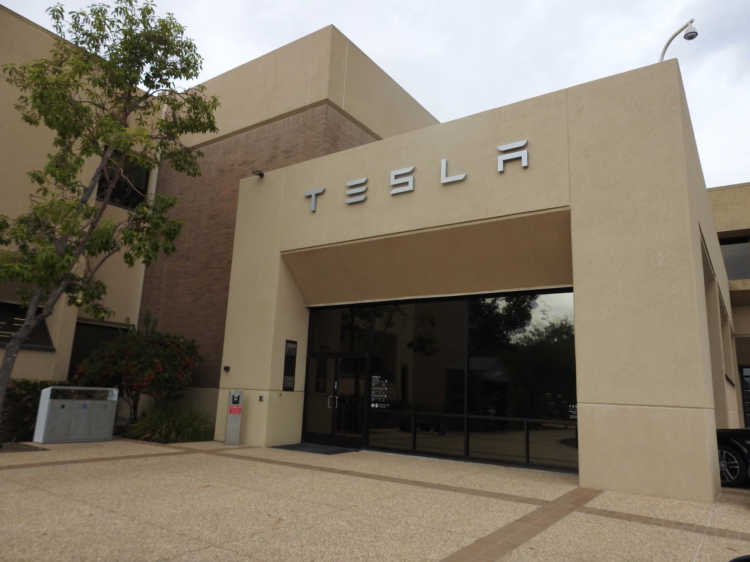 Tesla's corporate headquarters in Palo Alto, California.