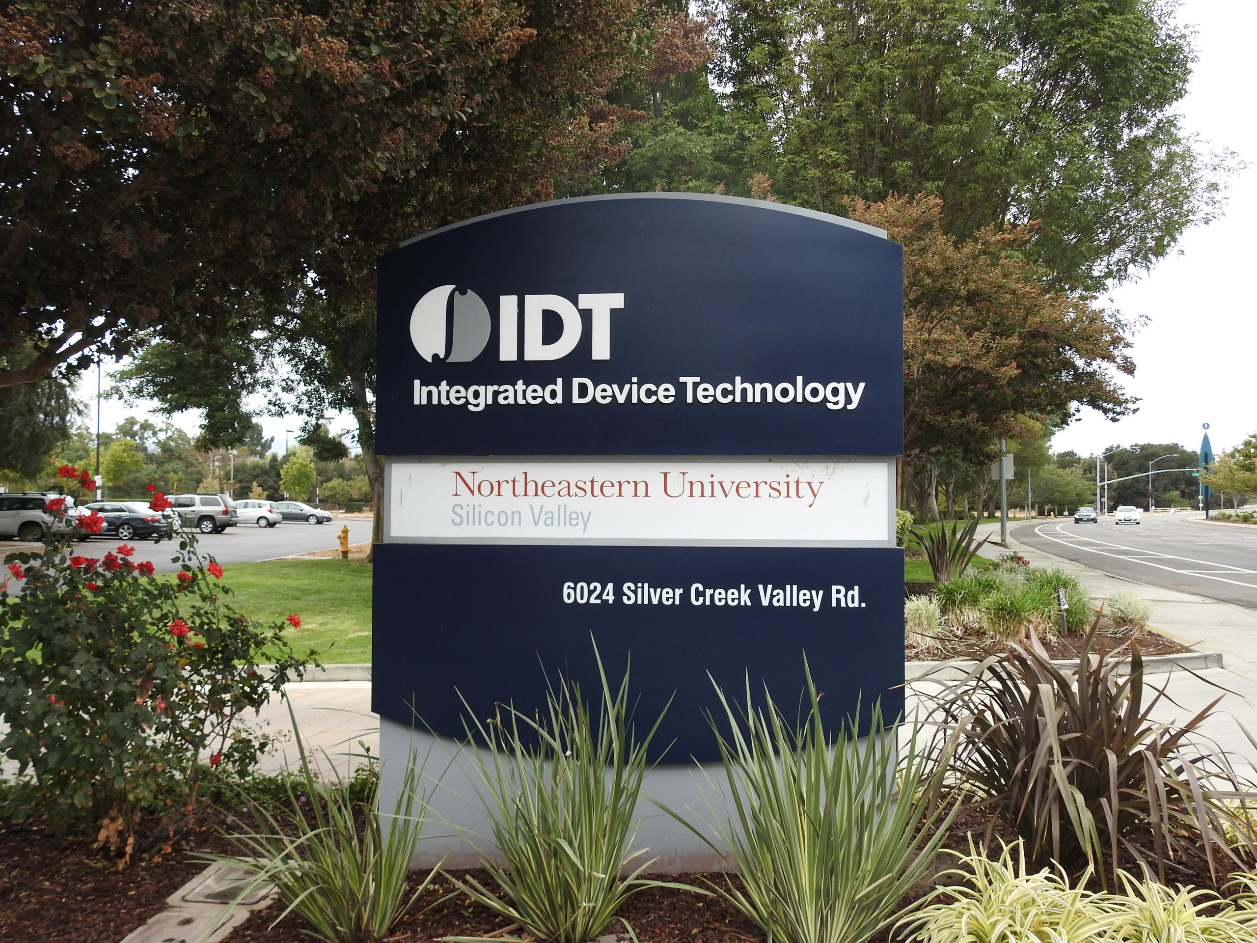 Entrance to Integrated Device Technology's corporate headquarters in San Jose, California.