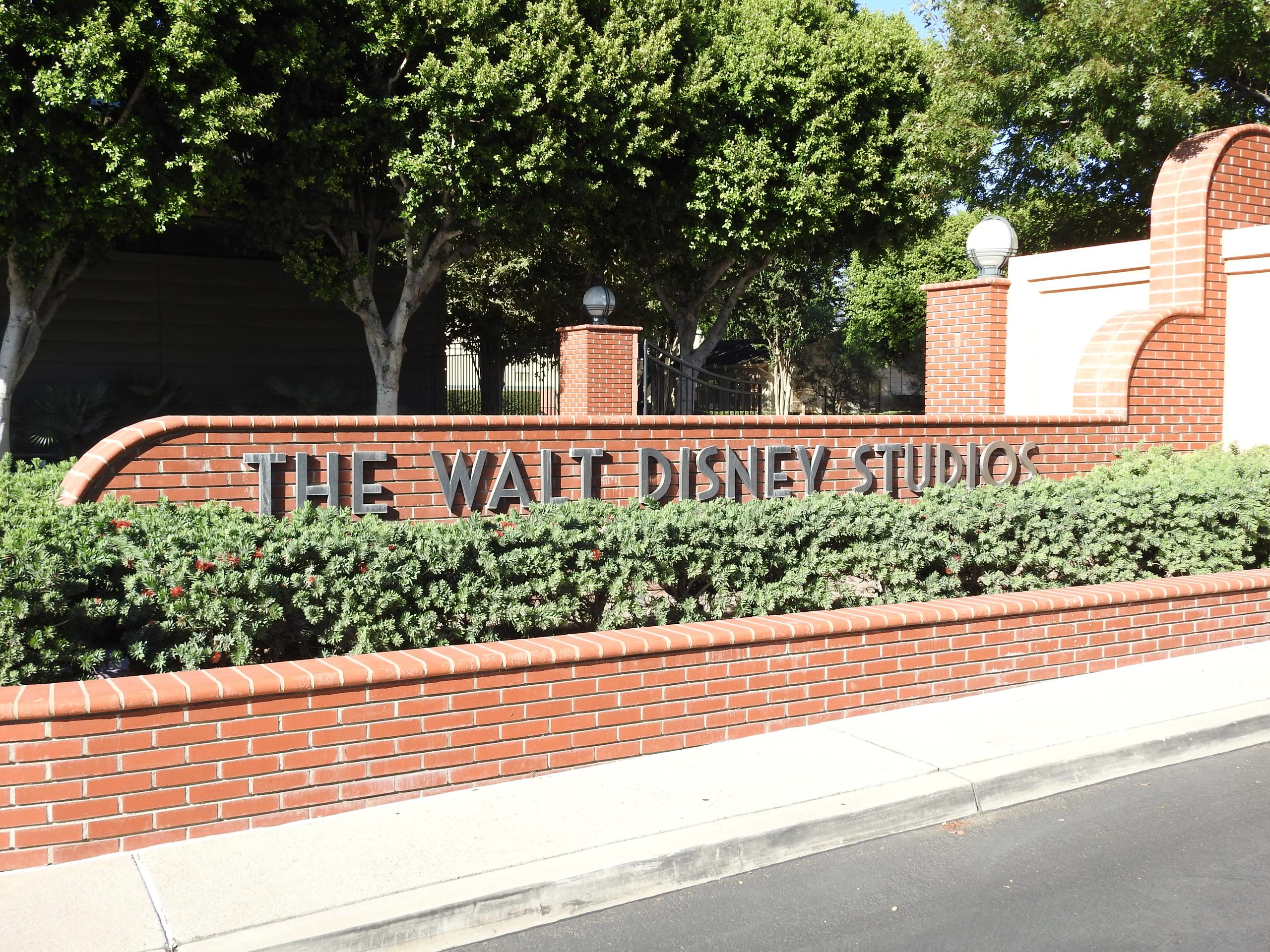 Entrance to The Walt Disney Company's headquarters in Burbank, California.