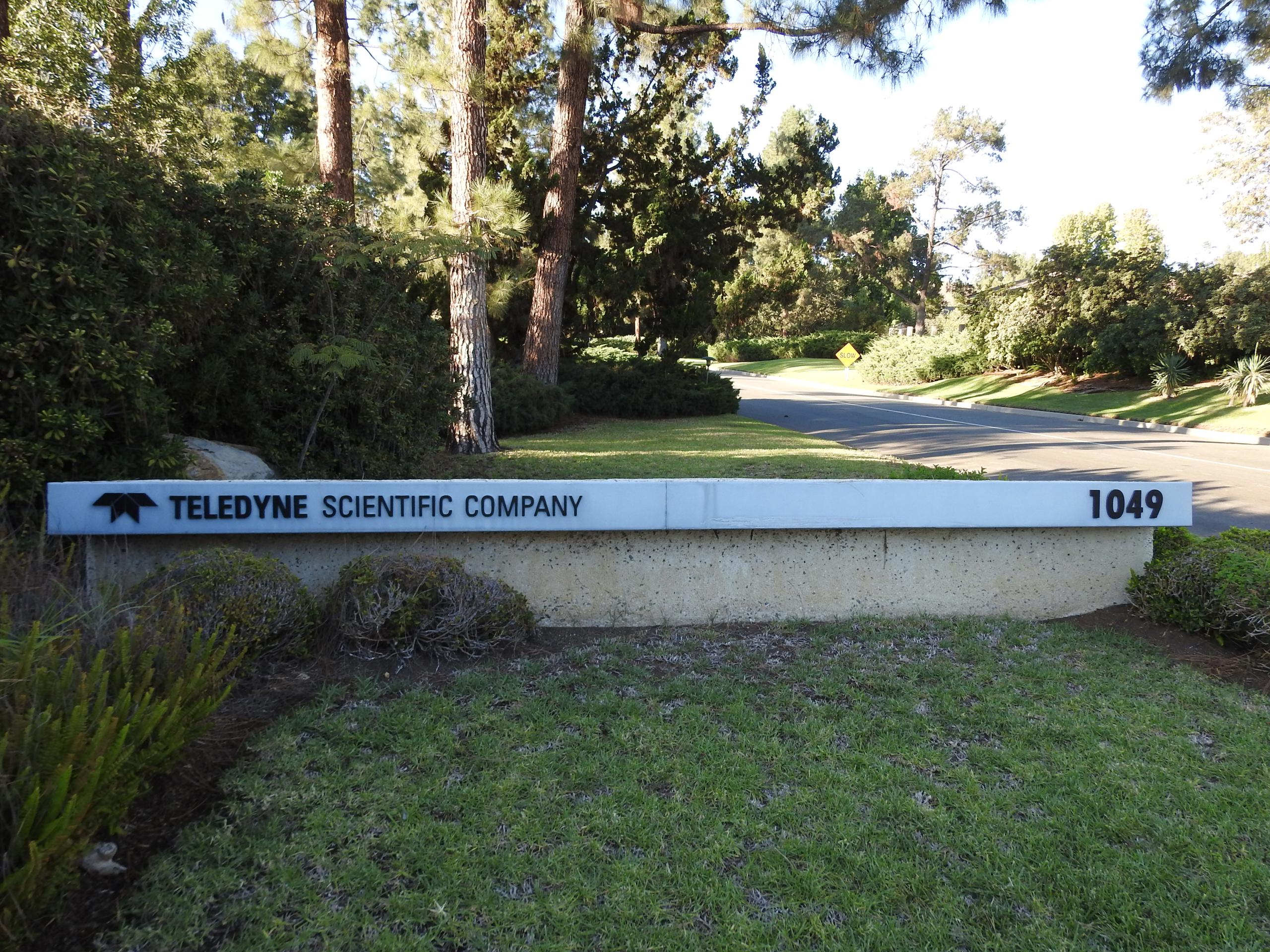 Entrance to Teledyne's corporate campus in Thousand Oaks, California.
