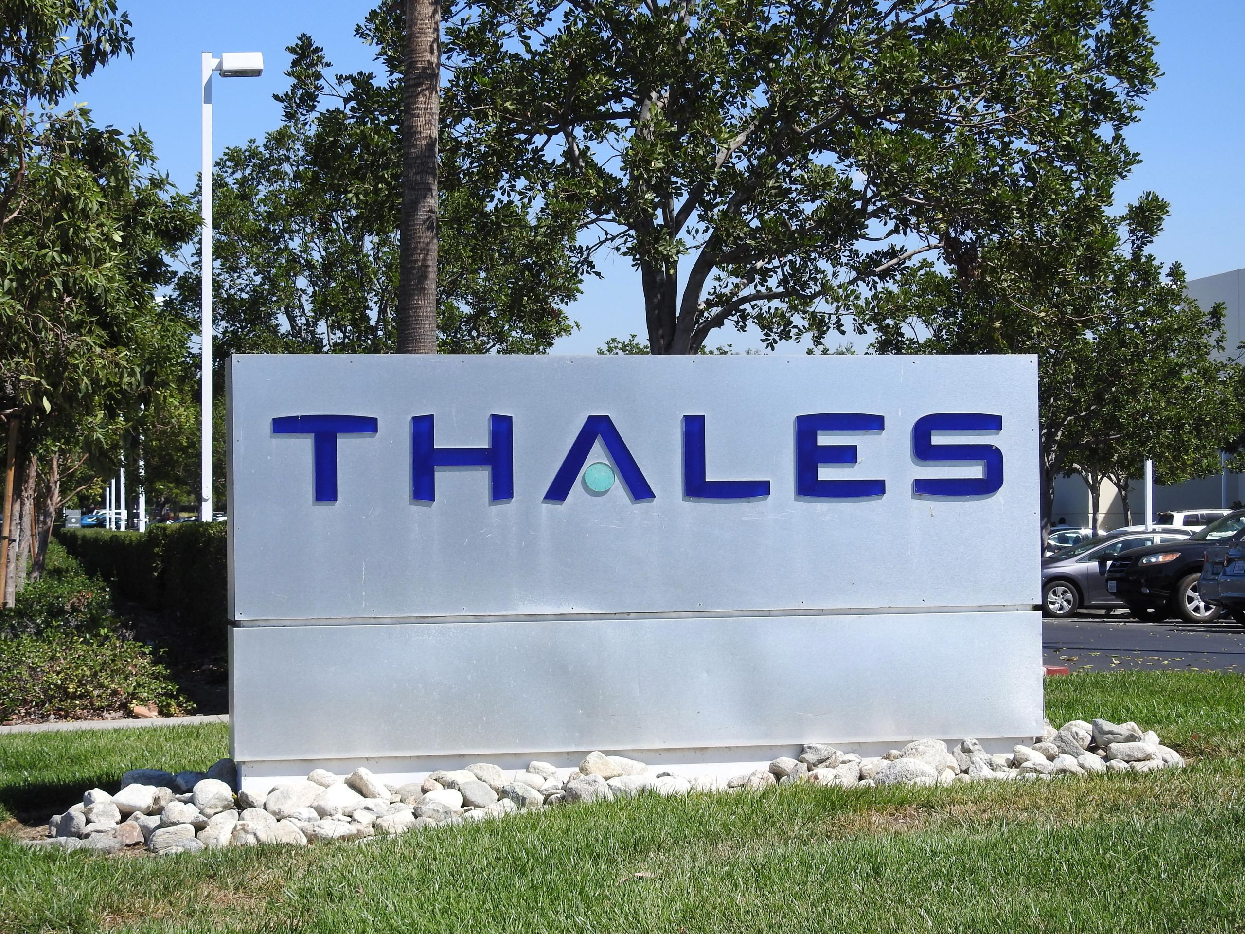 Entrance to a Thales facility in Irvine, California.