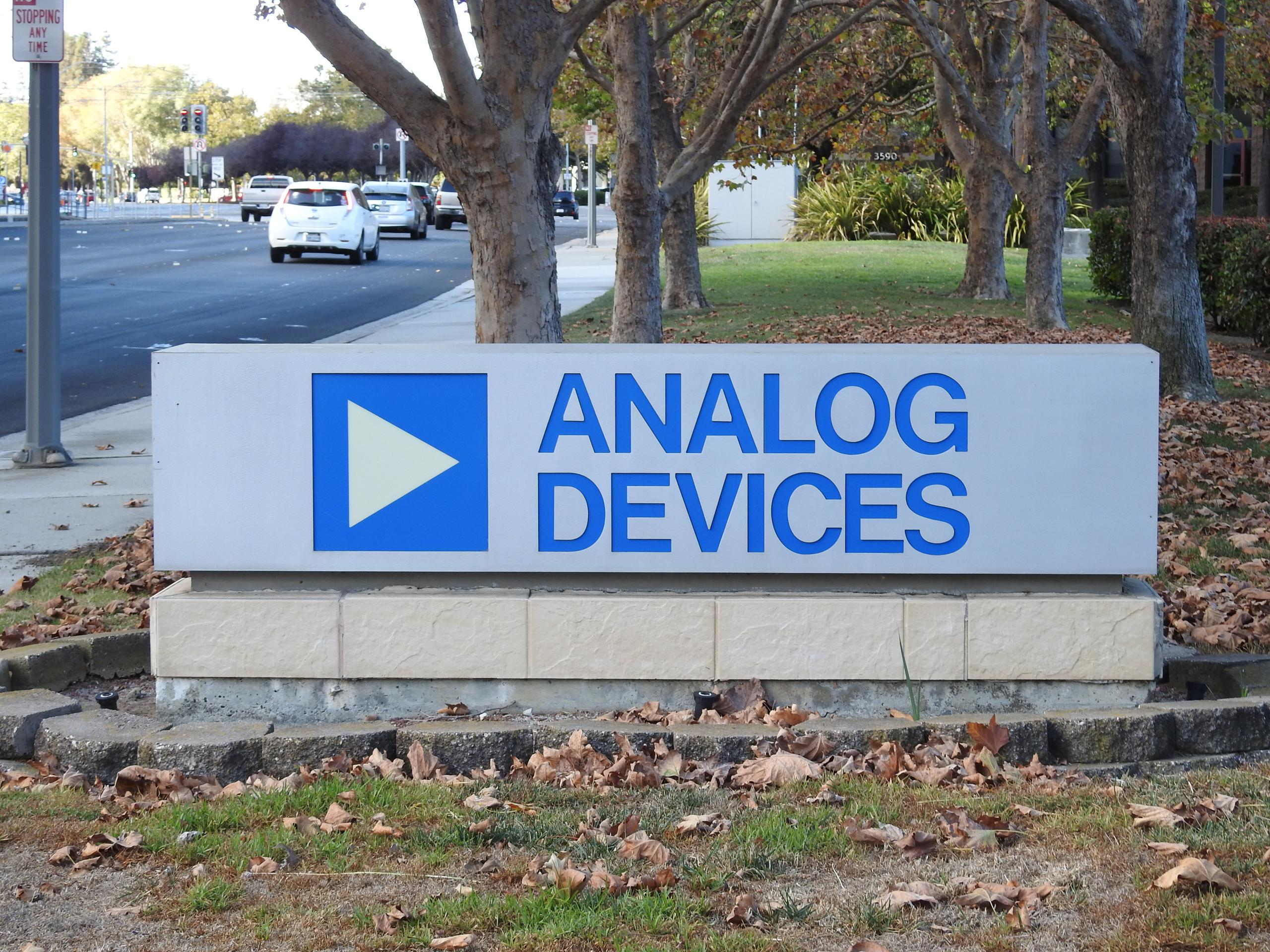 Entrance to Analog Devices' office in San Jose, California.