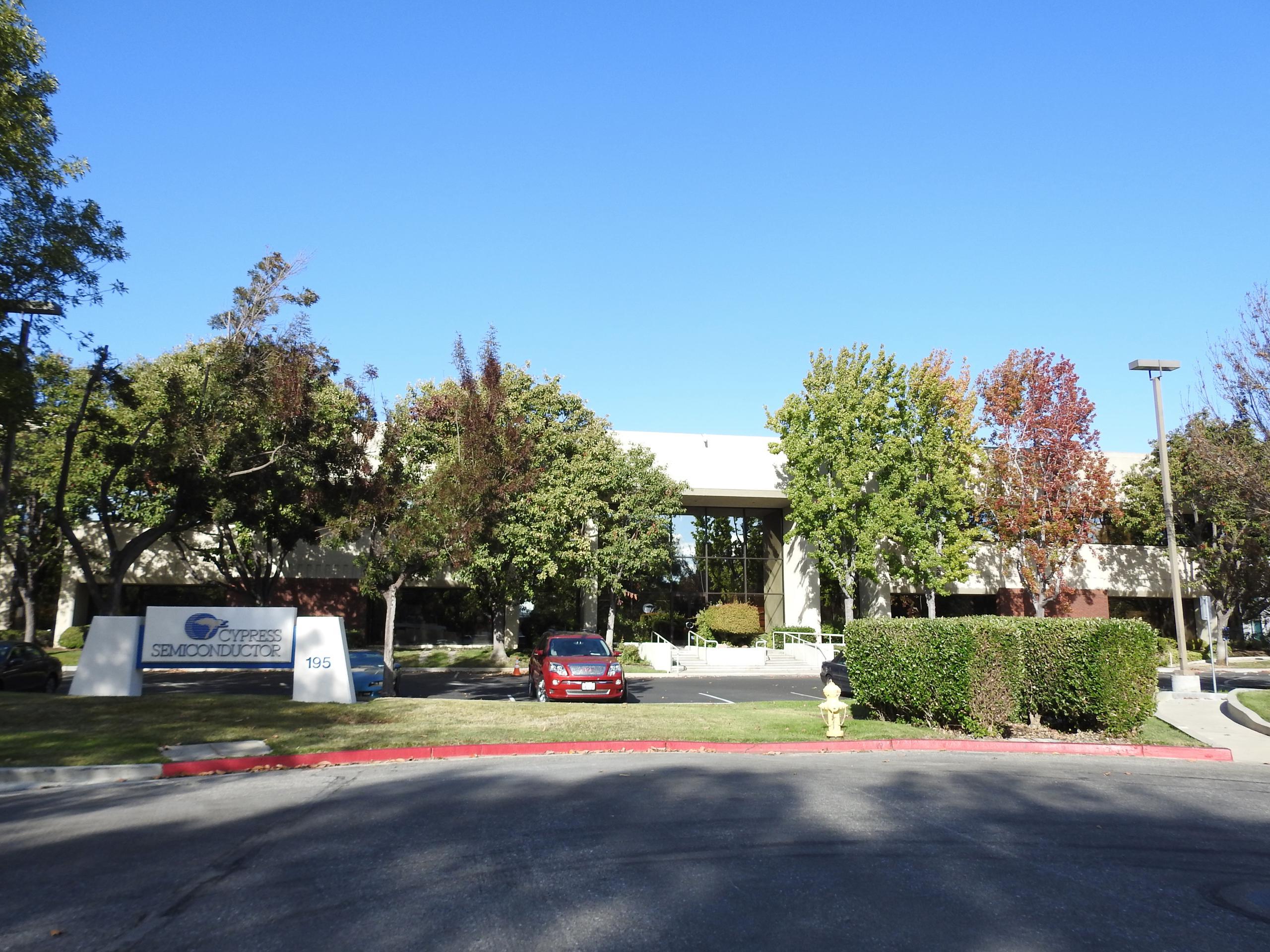 Cypress Semiconductor's corporate headquarters in San Jose, California.