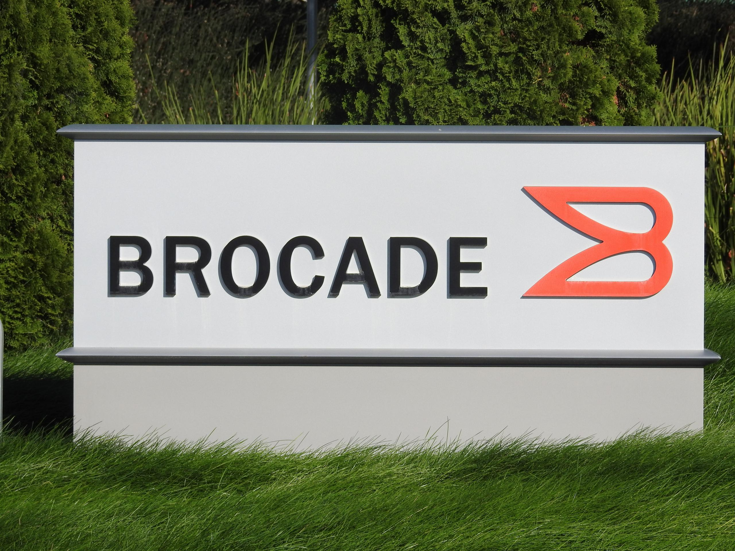 Entrance to Brocade's corporate headquarters in San Jose, California.