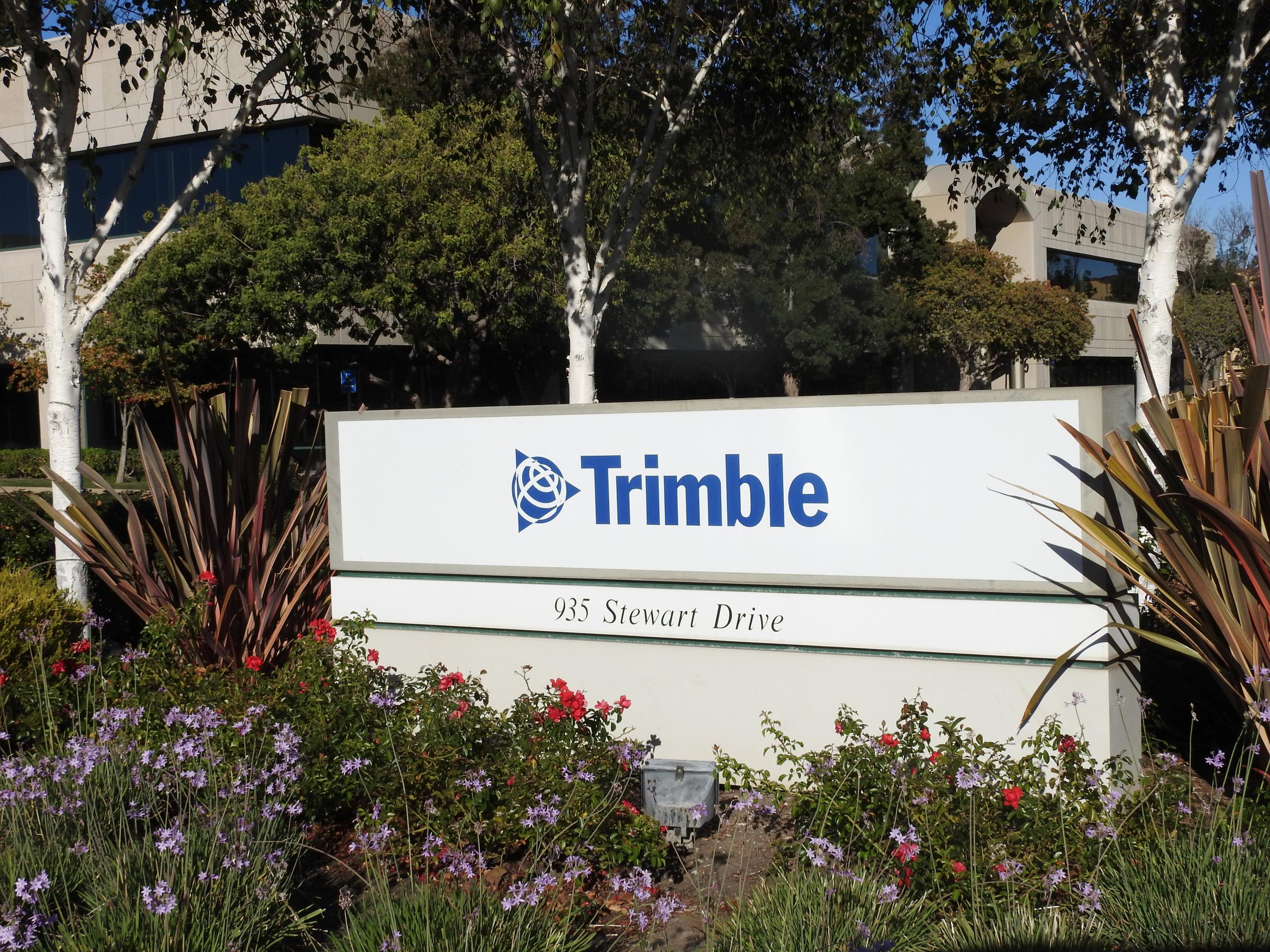 Entrance to Trimble Navigation's corporate headquarters in Sunnyvale, California.