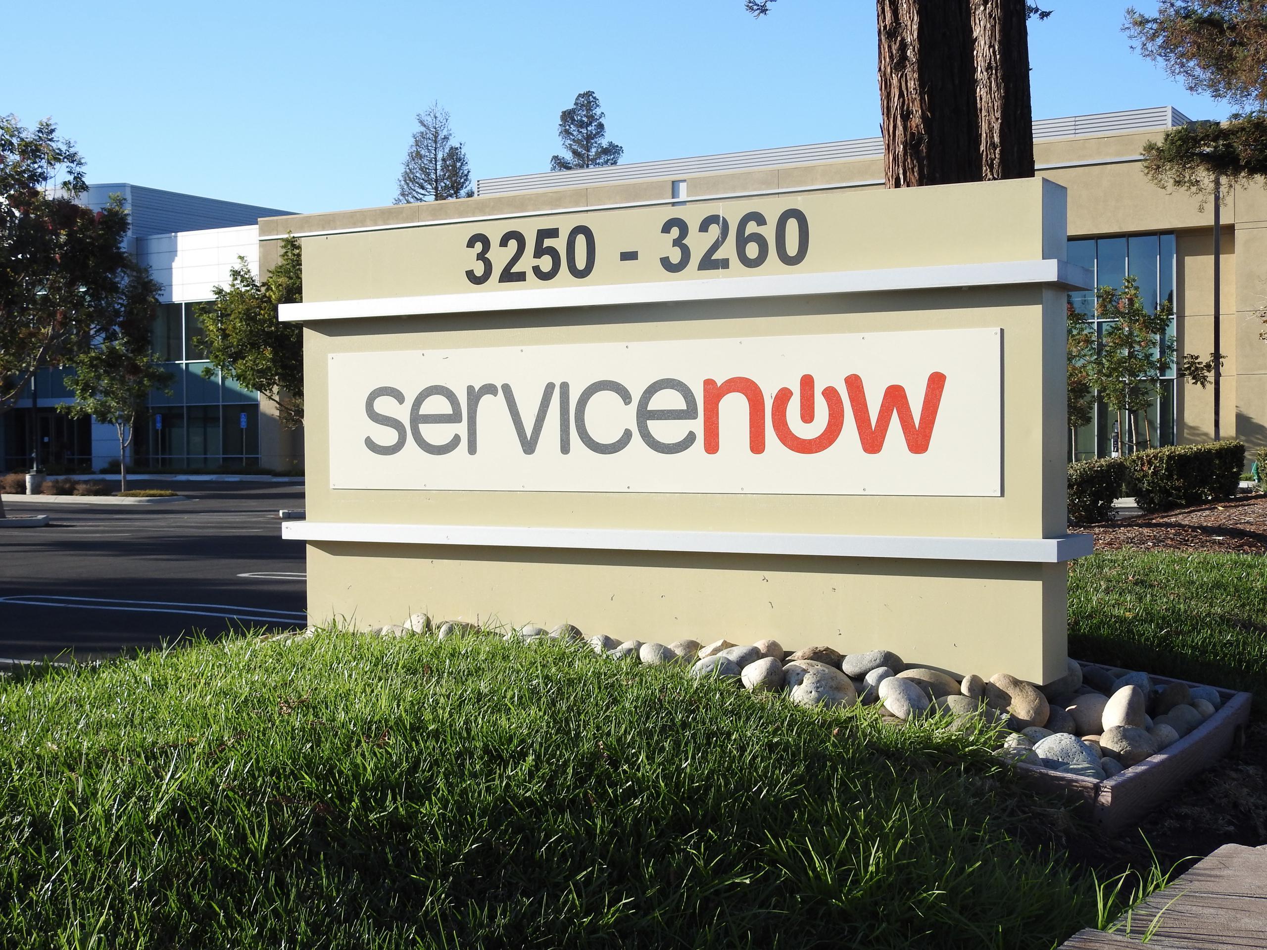 Entrance to ServiceNow's corporate headquarters in Santa Clara, California.