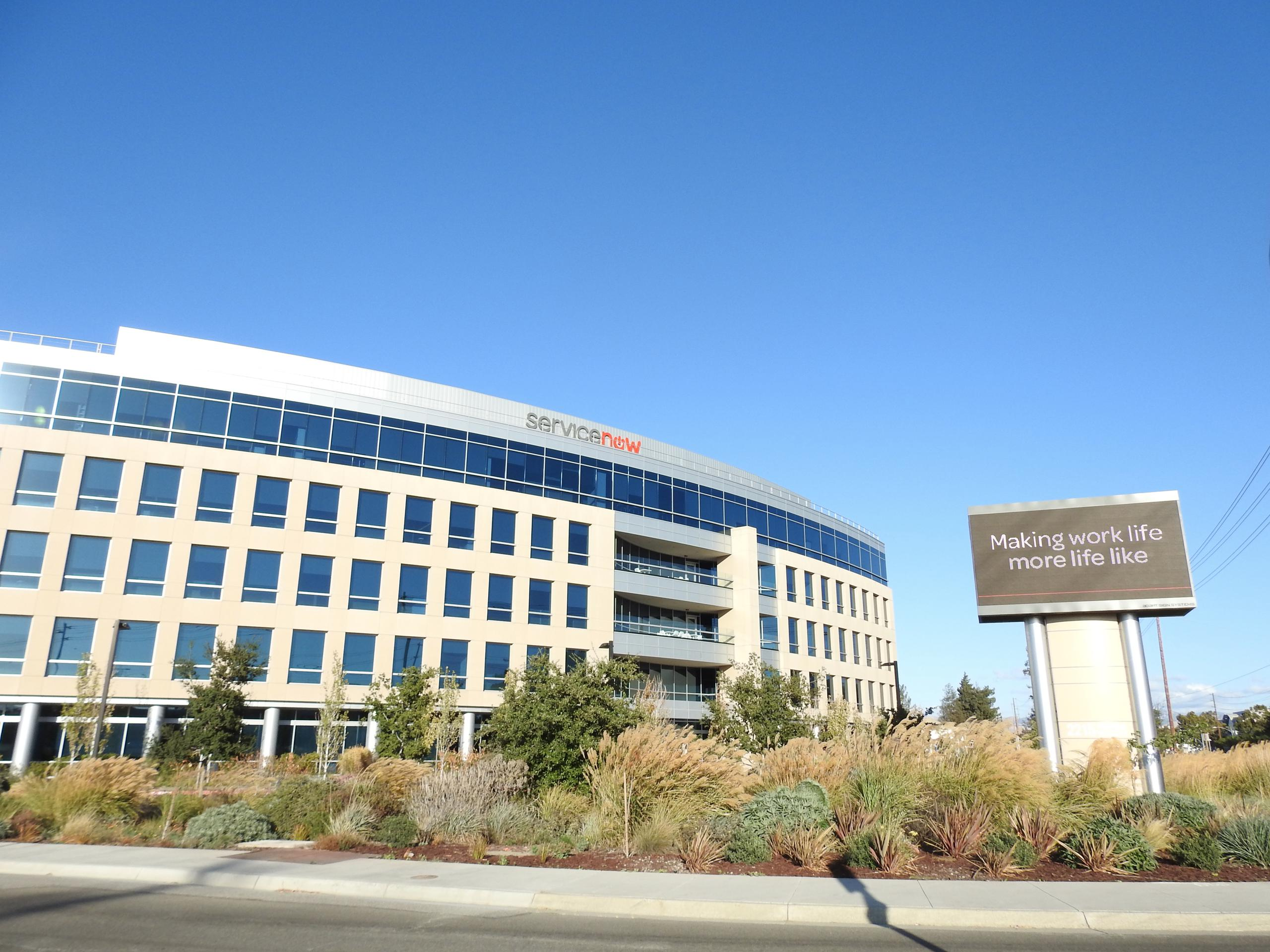 ServiceNow's corporate headquarters in Santa Clara, California.