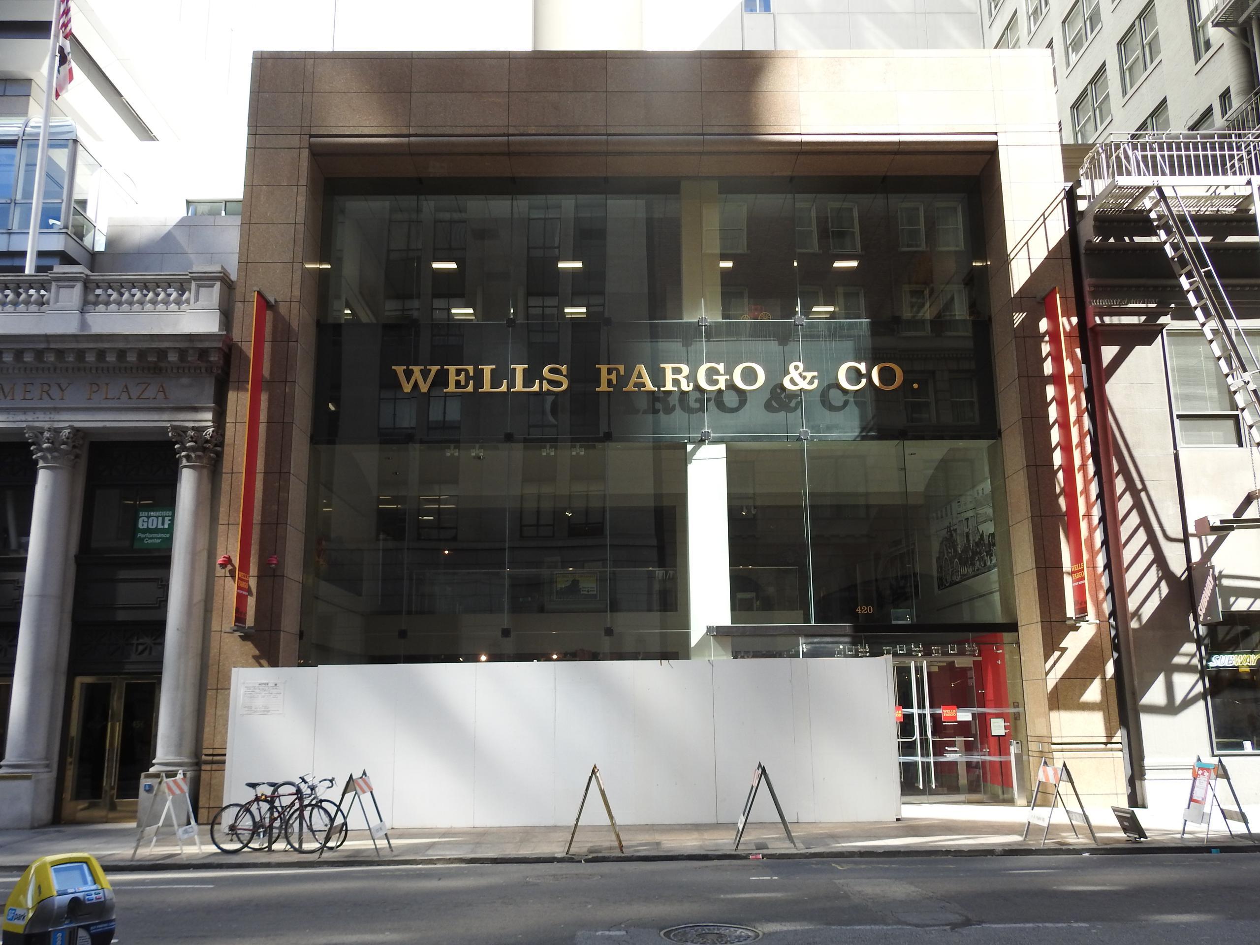 Wells Fargo's corporate headquarters in downtown San Francisco, California.