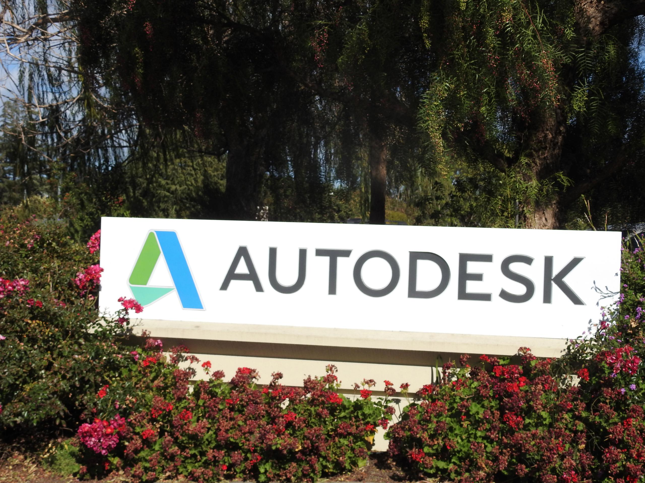 Entrance to Autodesk's corporate headquarters in Mill Valley, California.