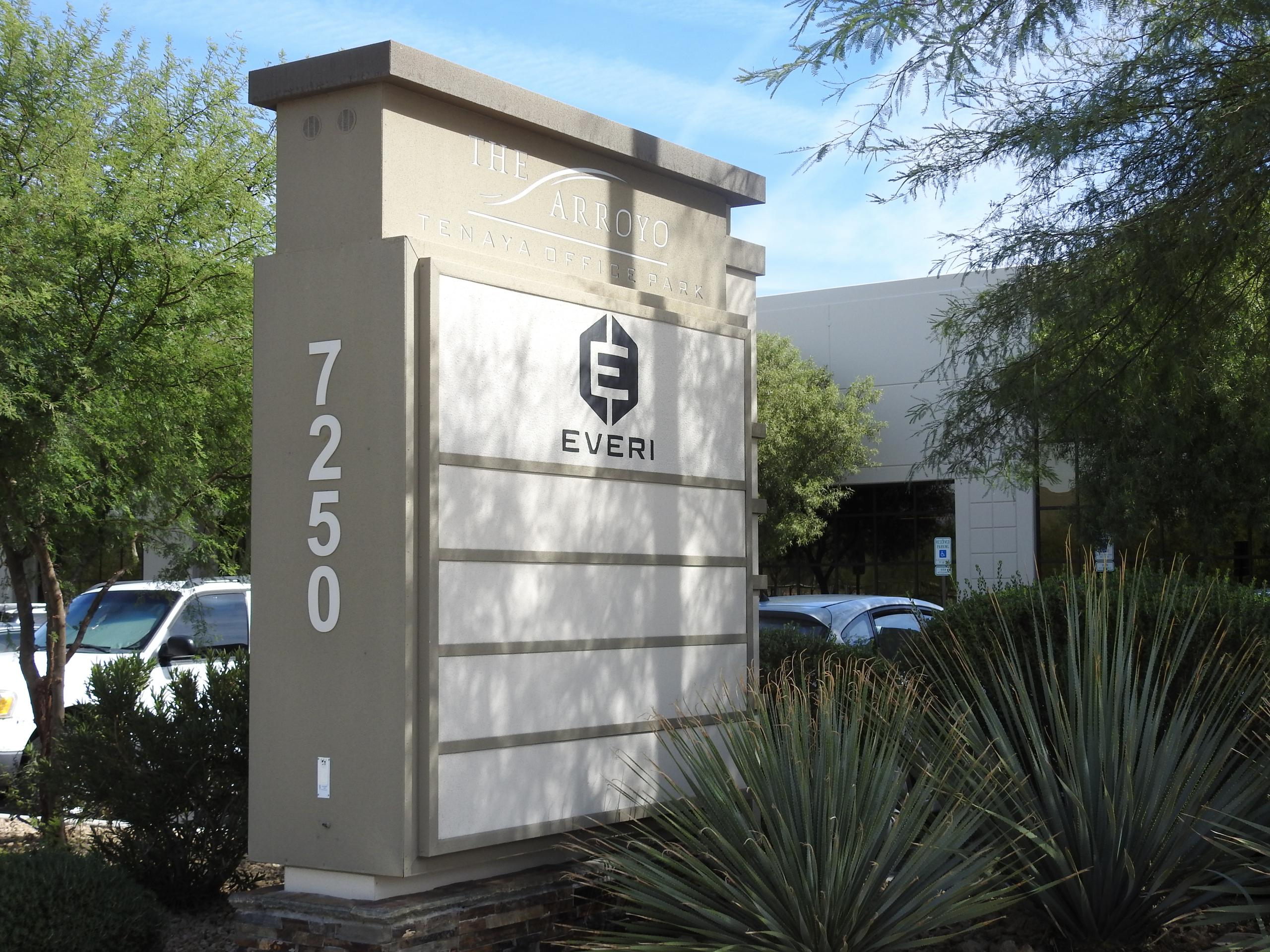 Entrance to Everi Holdings' headquarters in Las Vegas, Nevada.