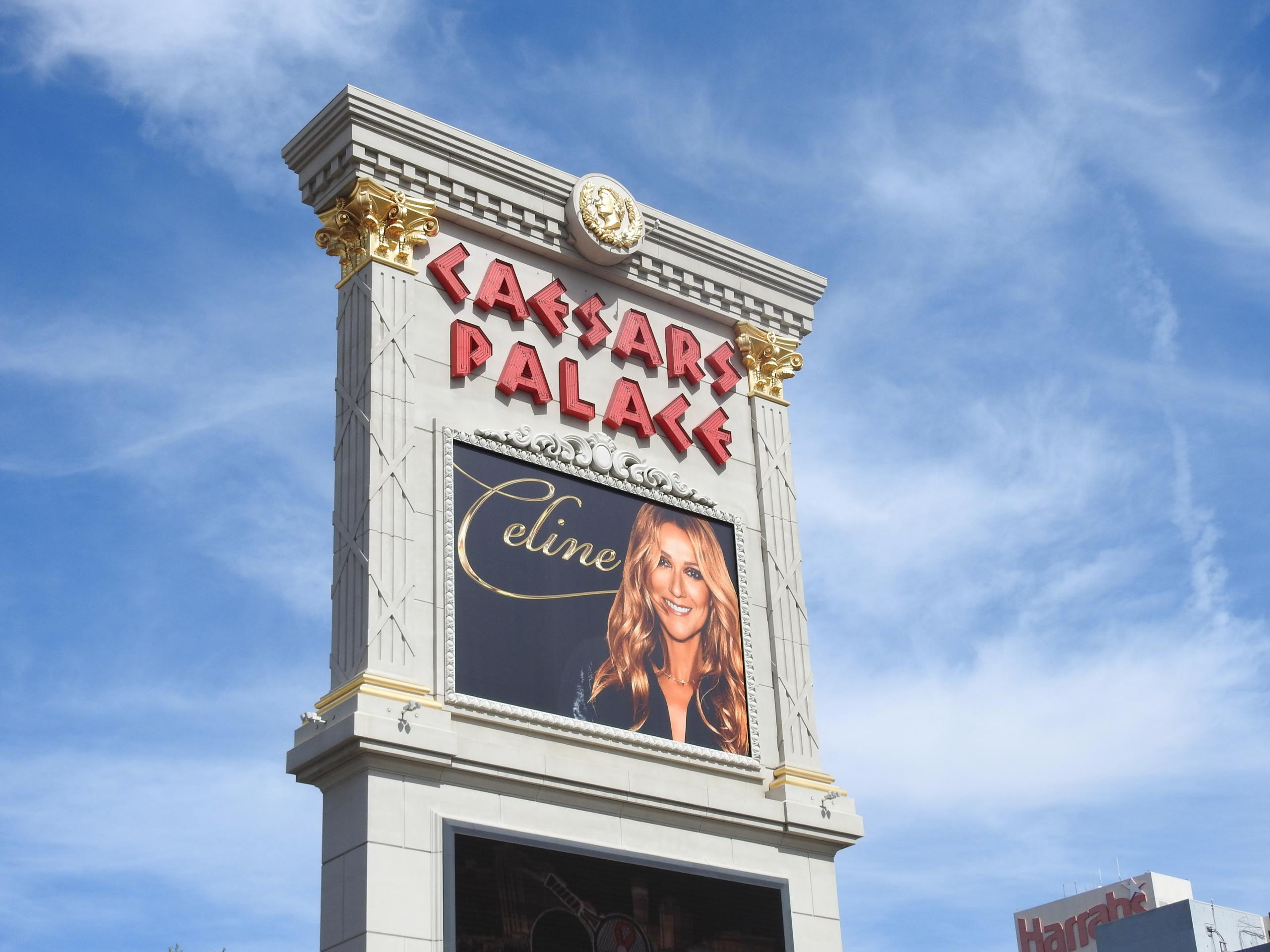 Entrance to Caesars Palace in Las Vegas, Nevada.
