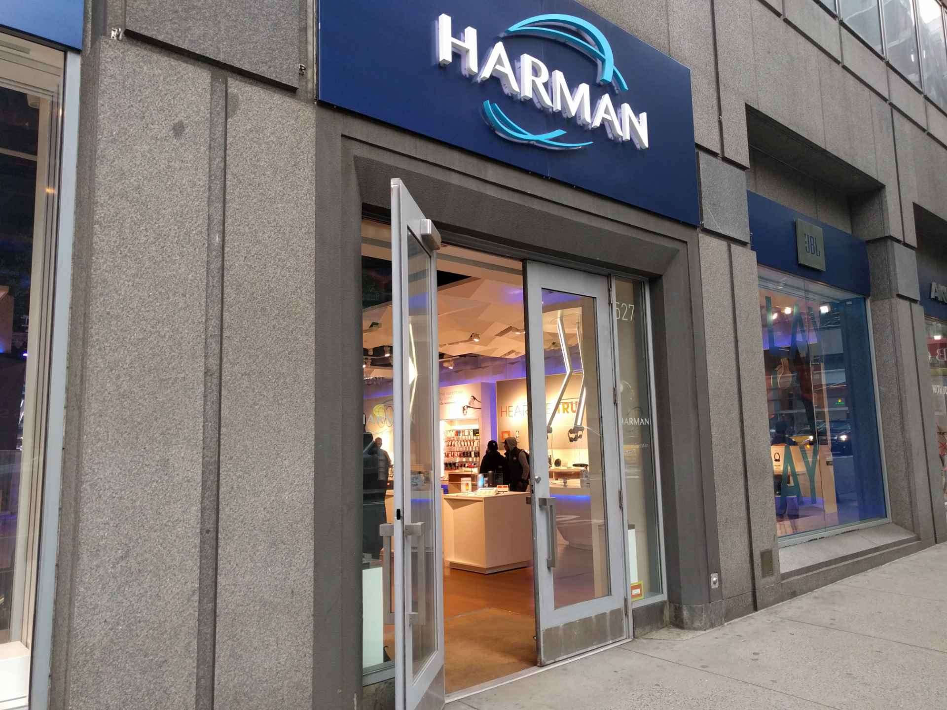 Entrance to a Harman retail store in New York City.