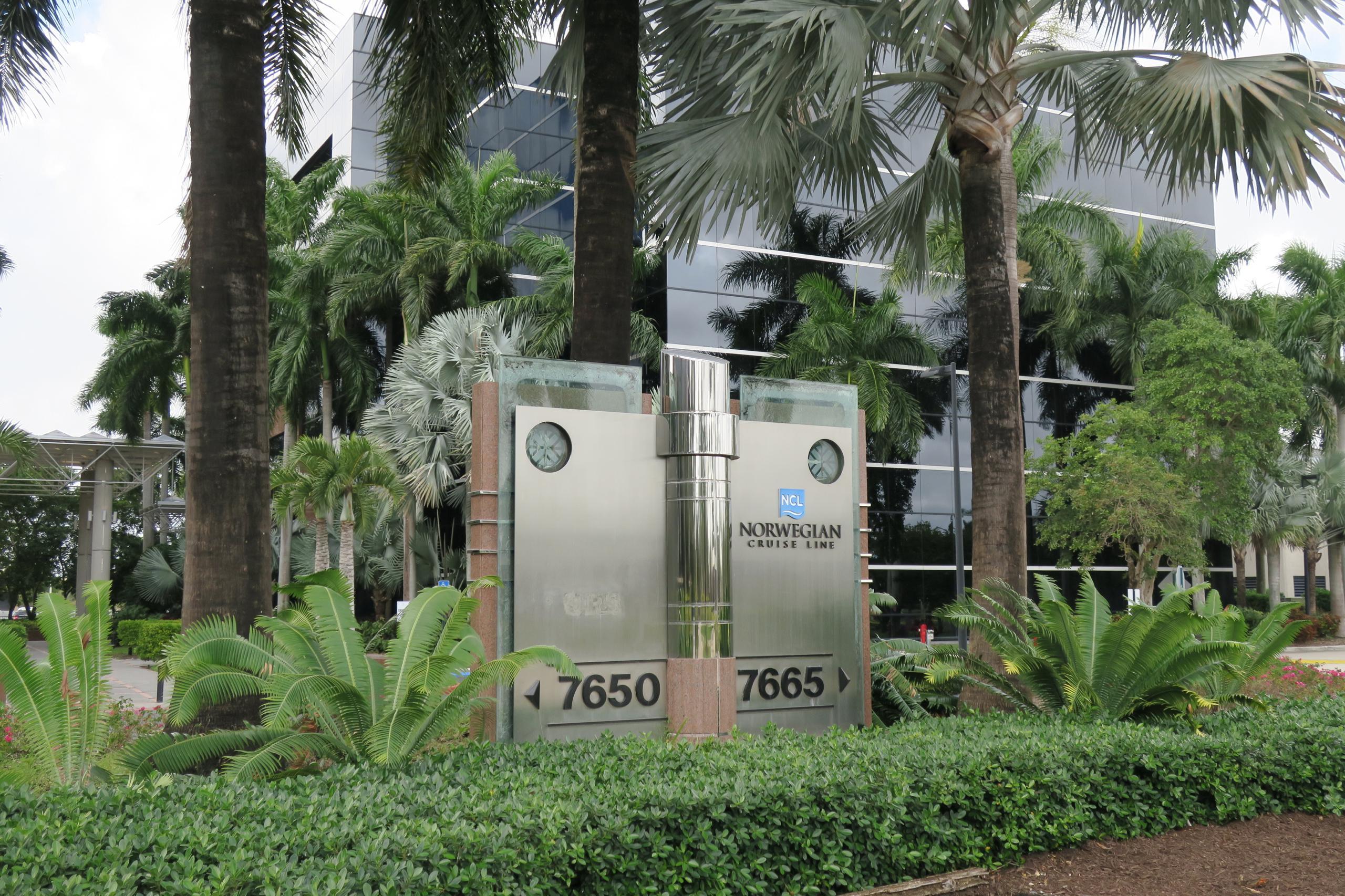 Norwegian Cruise Line's corporate headquarters in Miami, Florida.
