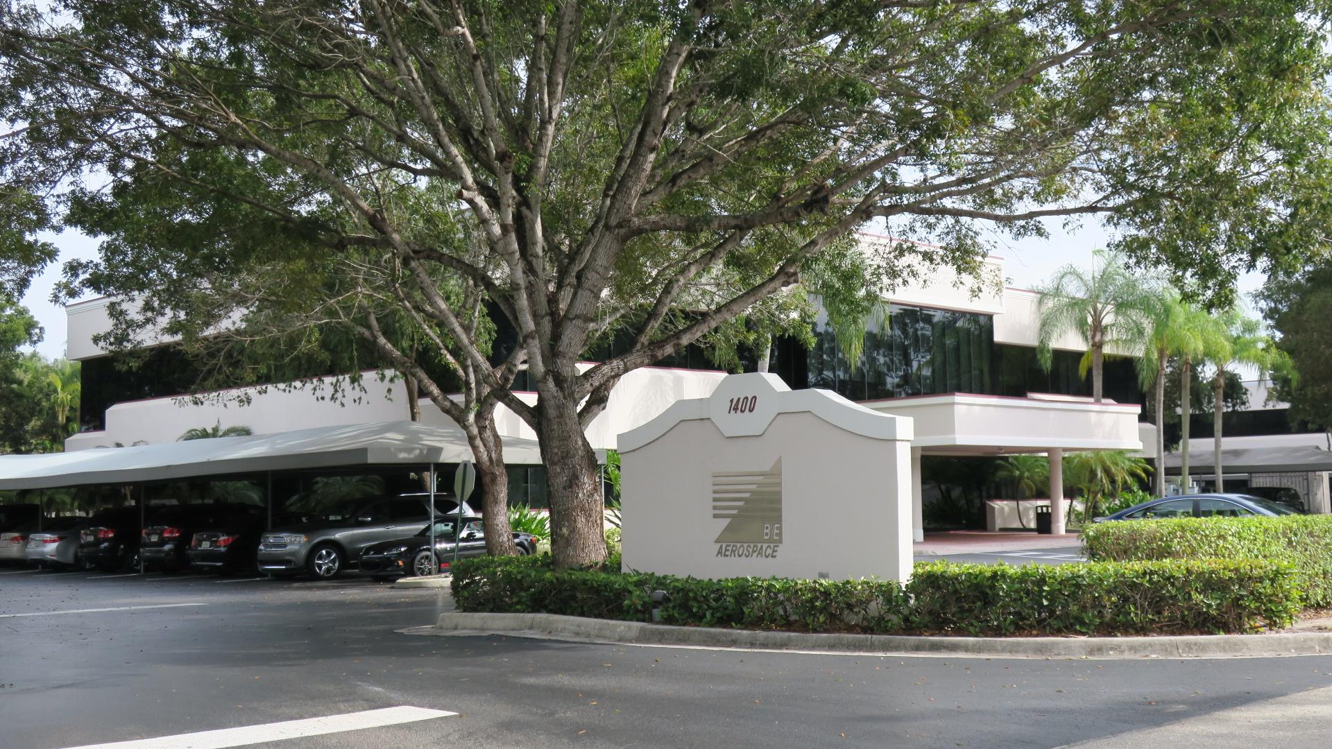 Entrance to B/E Aerospace's corporate headquarters in Wellington, Florida.