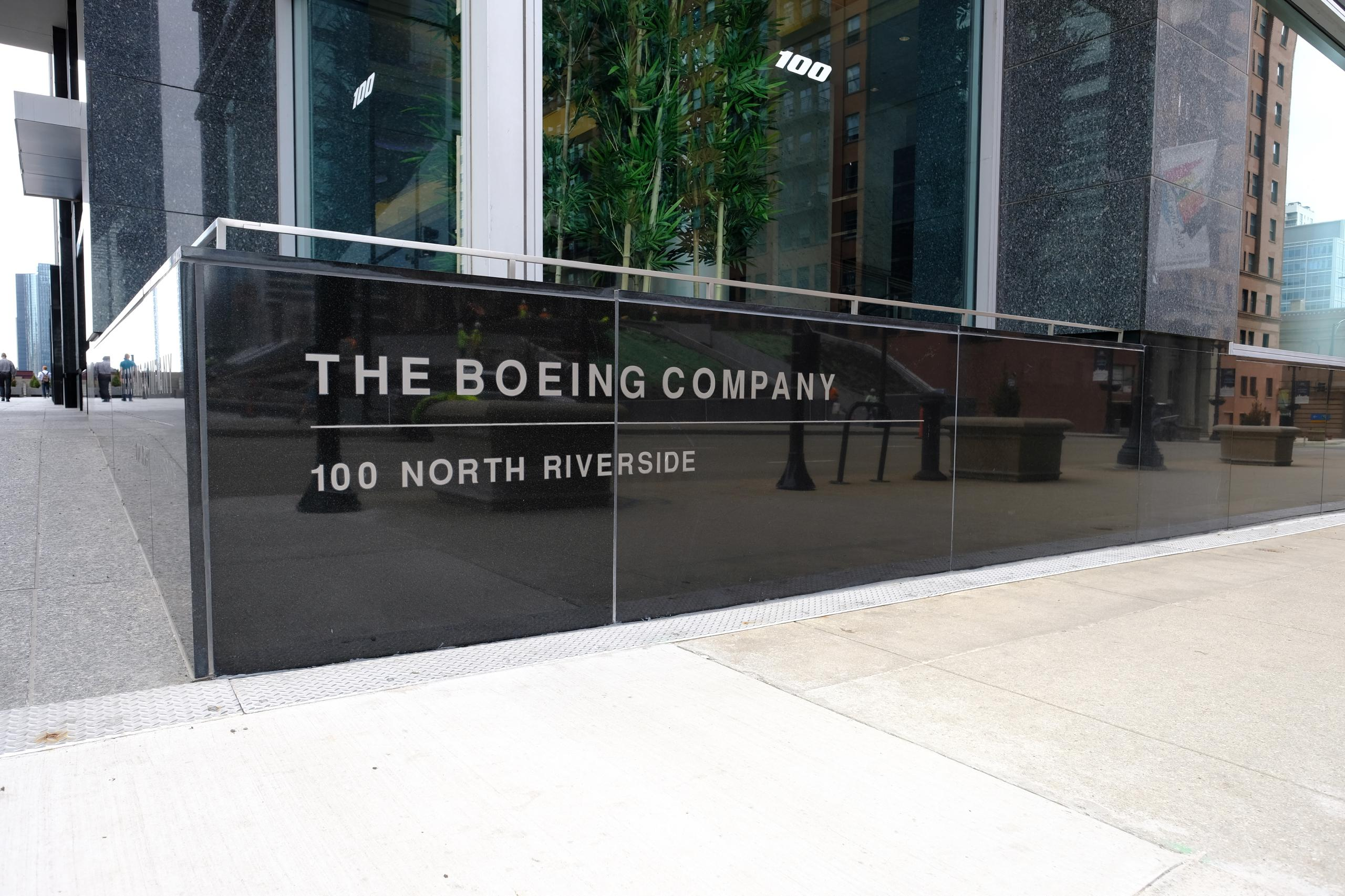 Boeing's corporate headquarters in downtown Chicago, Illinois.