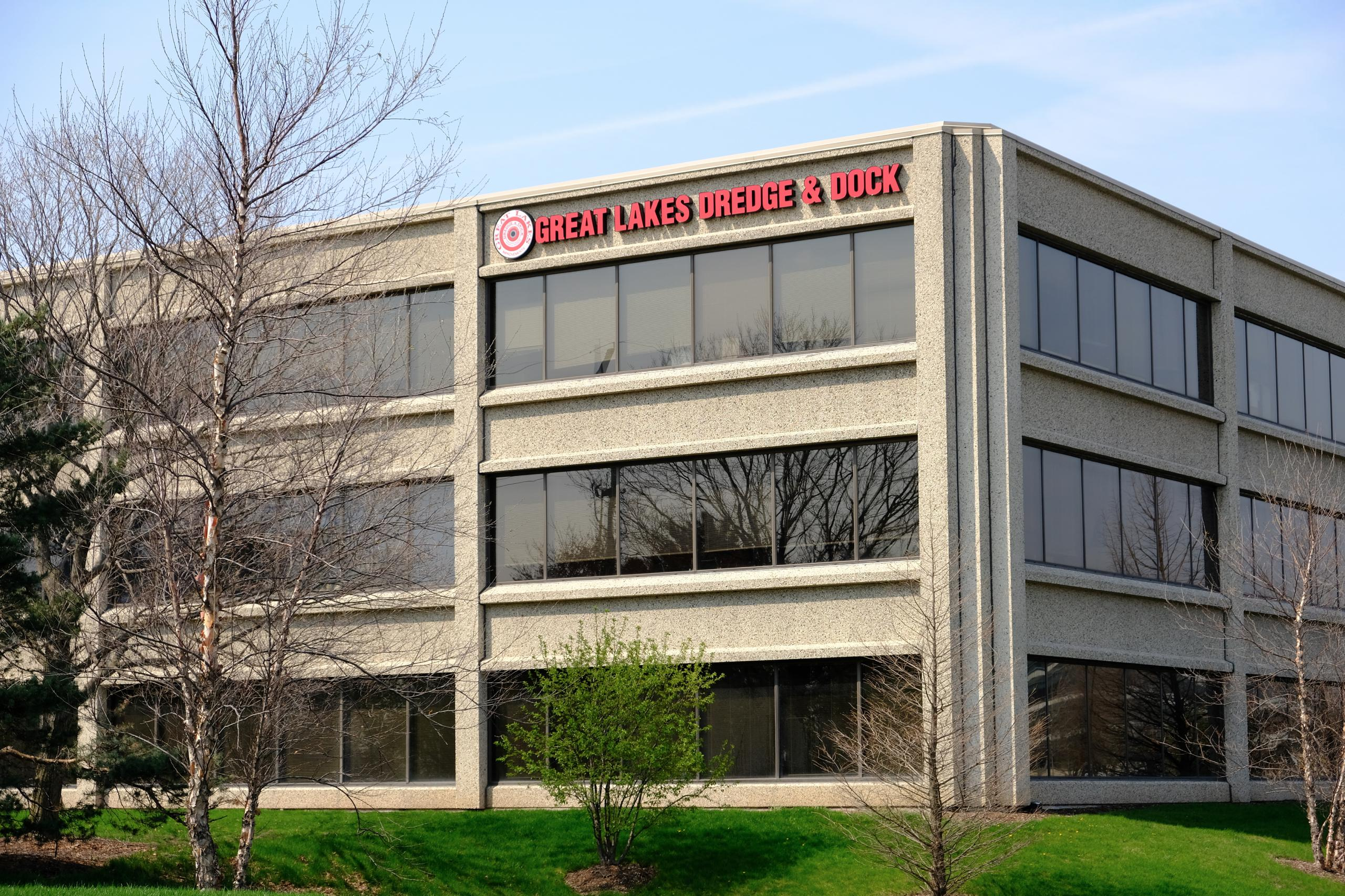 Great Lakes Dredge & Dock's corporate headquarters in Oak Brook, Illinois.