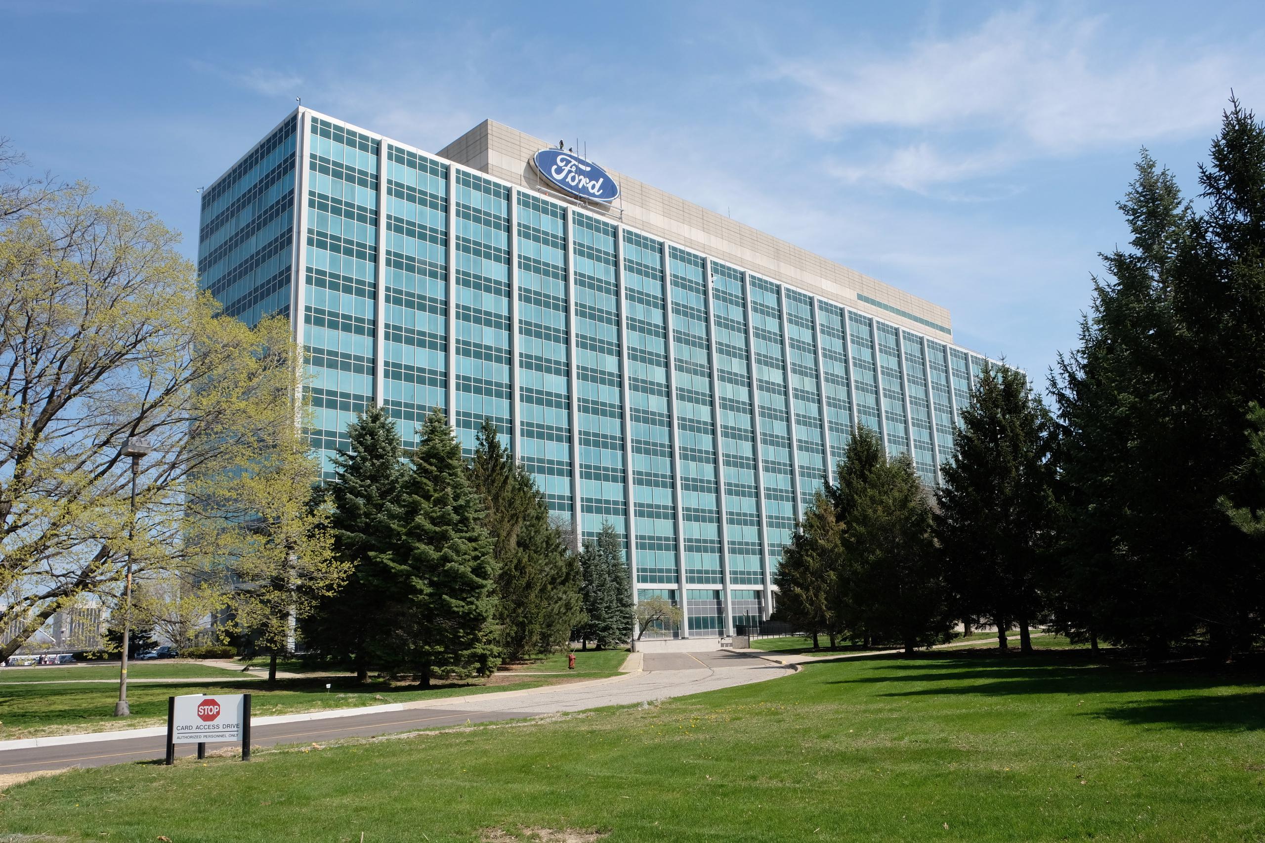 Ford Motor Company's corporate headquarters in Dearborn, Michigan.