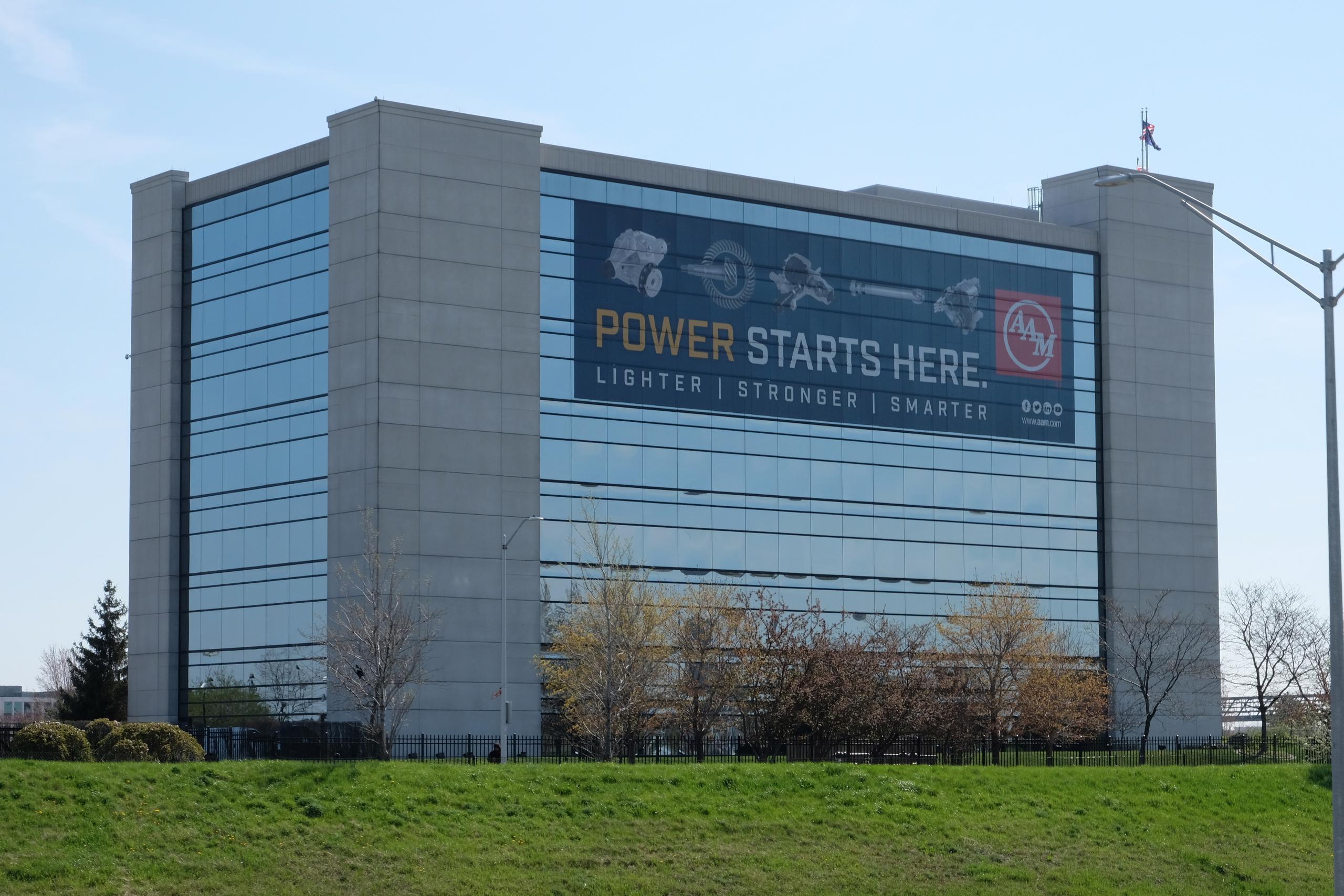 American Axle & Manufacturing's corporate headquarters in Detroit, Michigan.