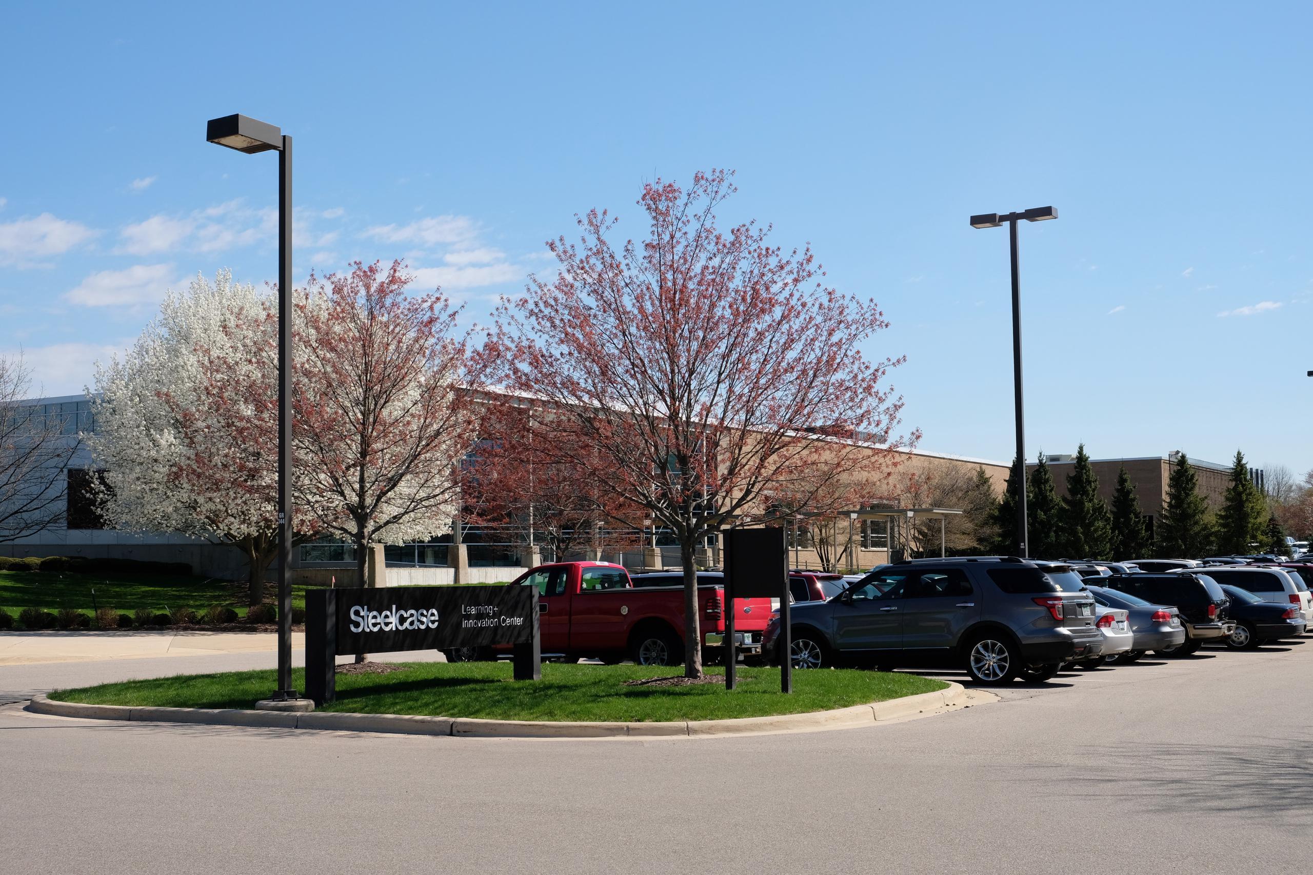Steelcase's corporate headquarters in Grand Rapids, Michigan.