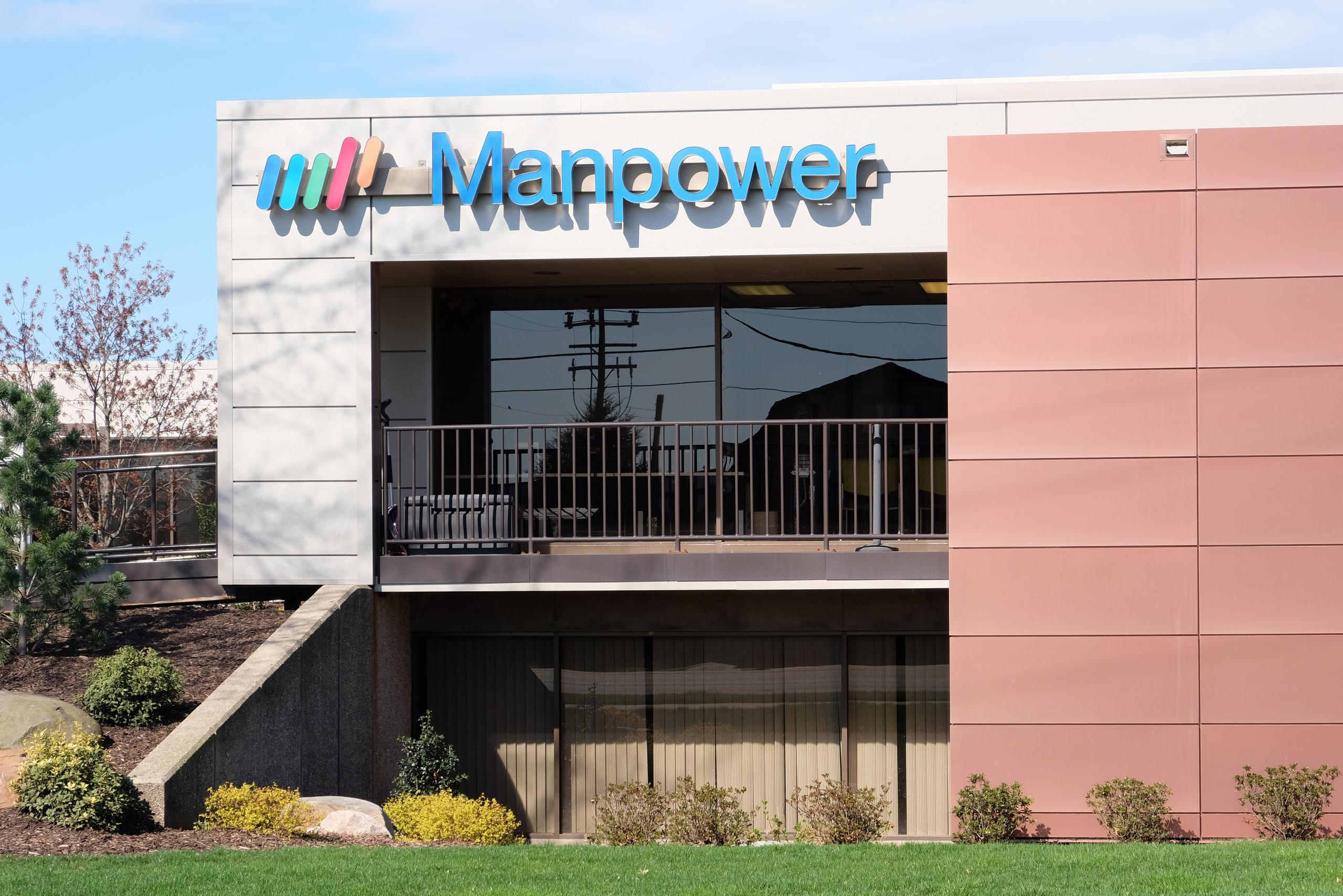 Manpower office in Zeeland, Michigan.