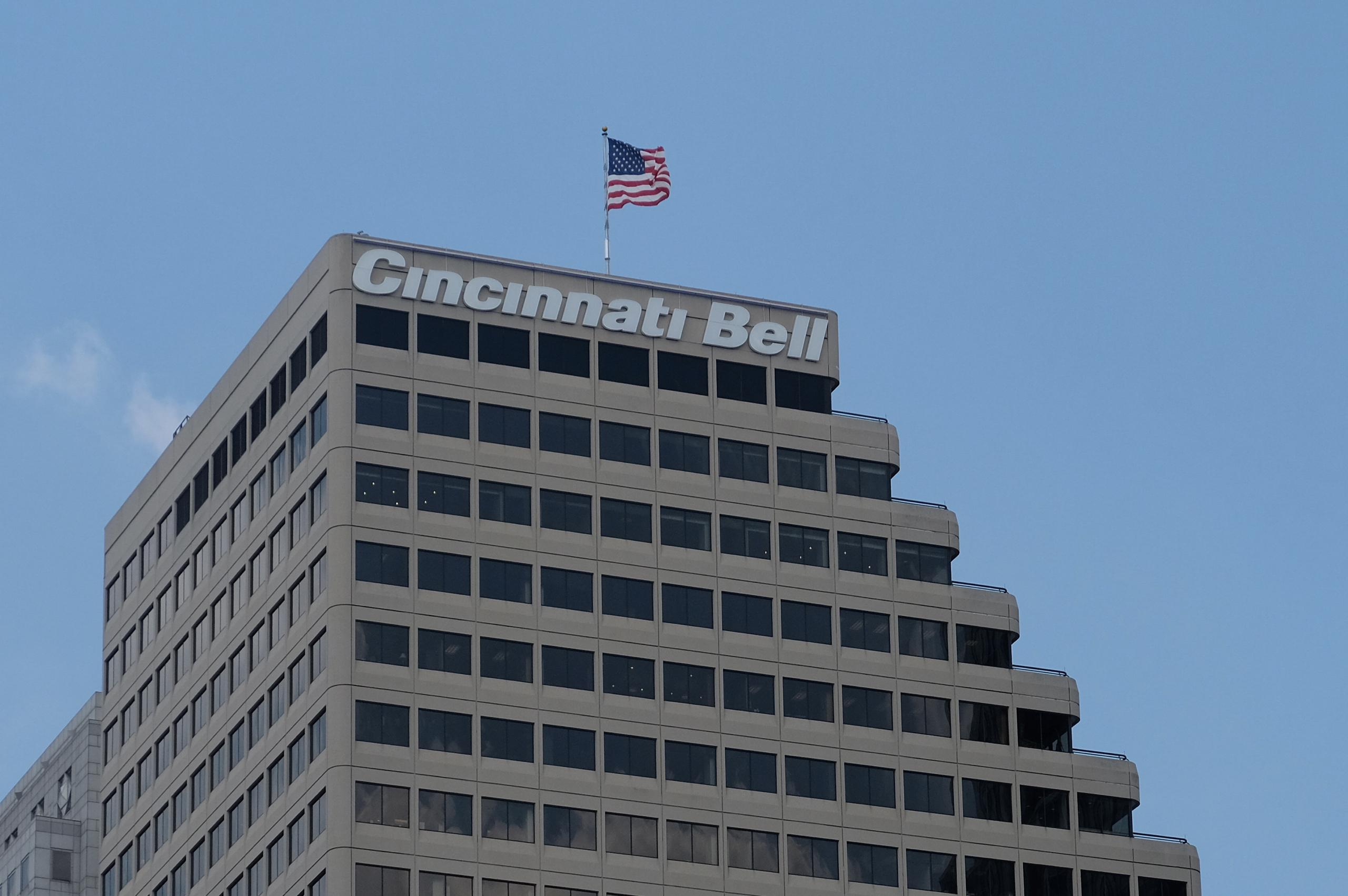 Cincinnati Bell's corporate headquarters in Cincinnati, Ohio.