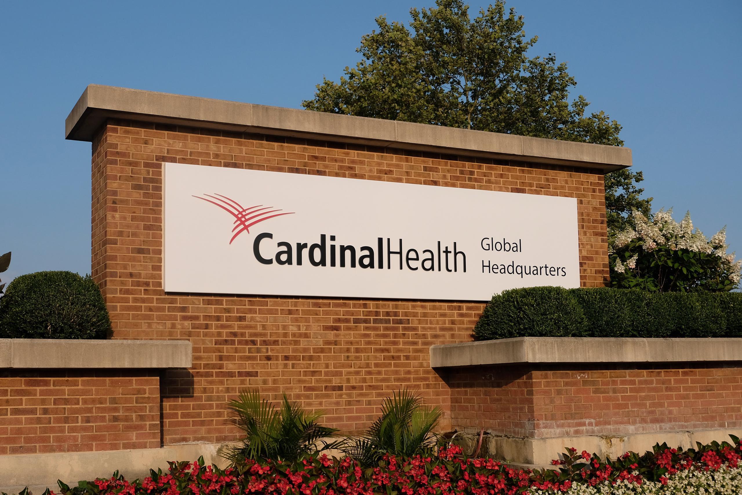 Entrance to Cardinal Health's corporate headquarters in Dublin, Ohio.