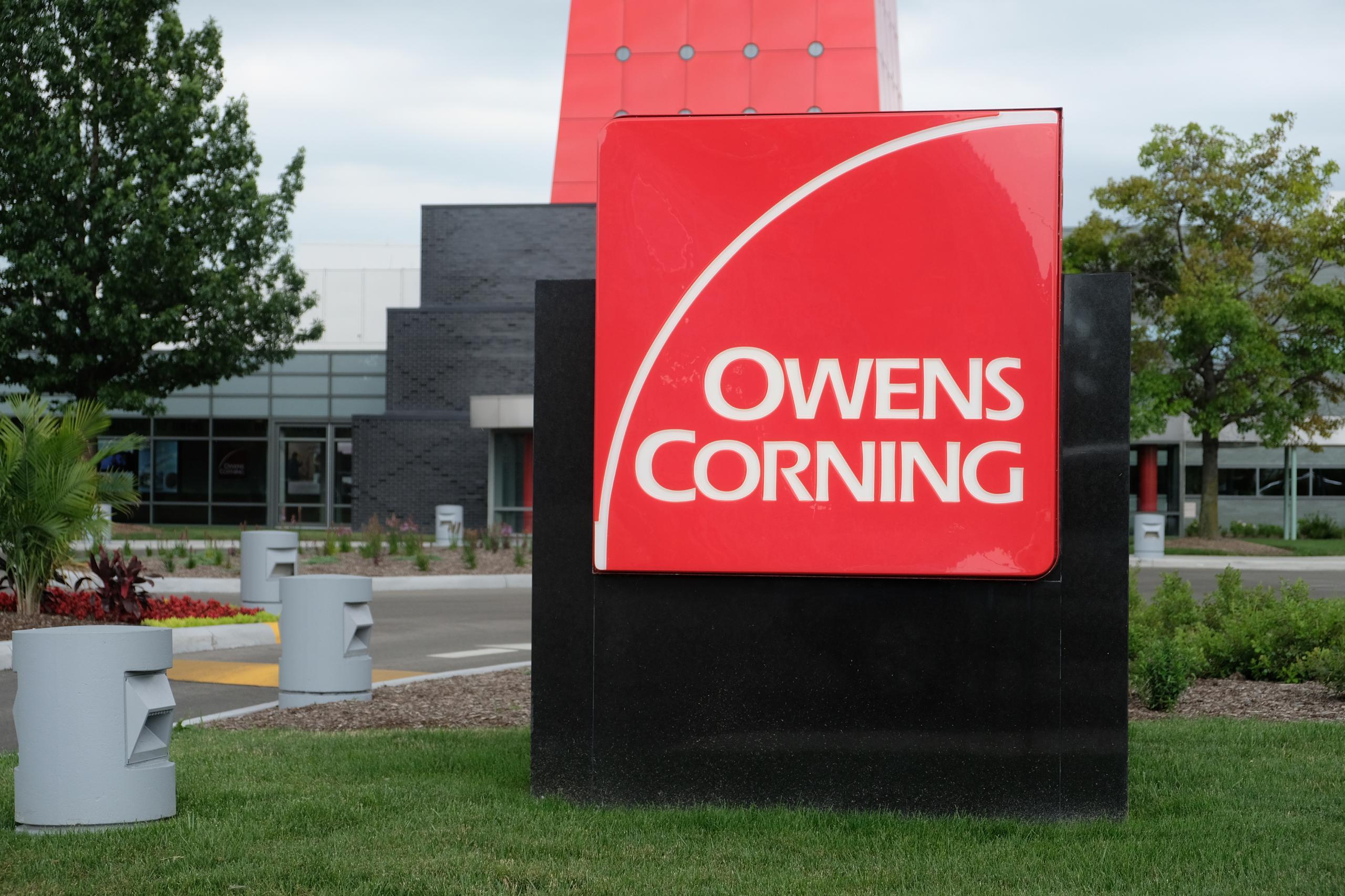 Entrance to Owens Corning's corporate headquarters in Toledo, Ohio.