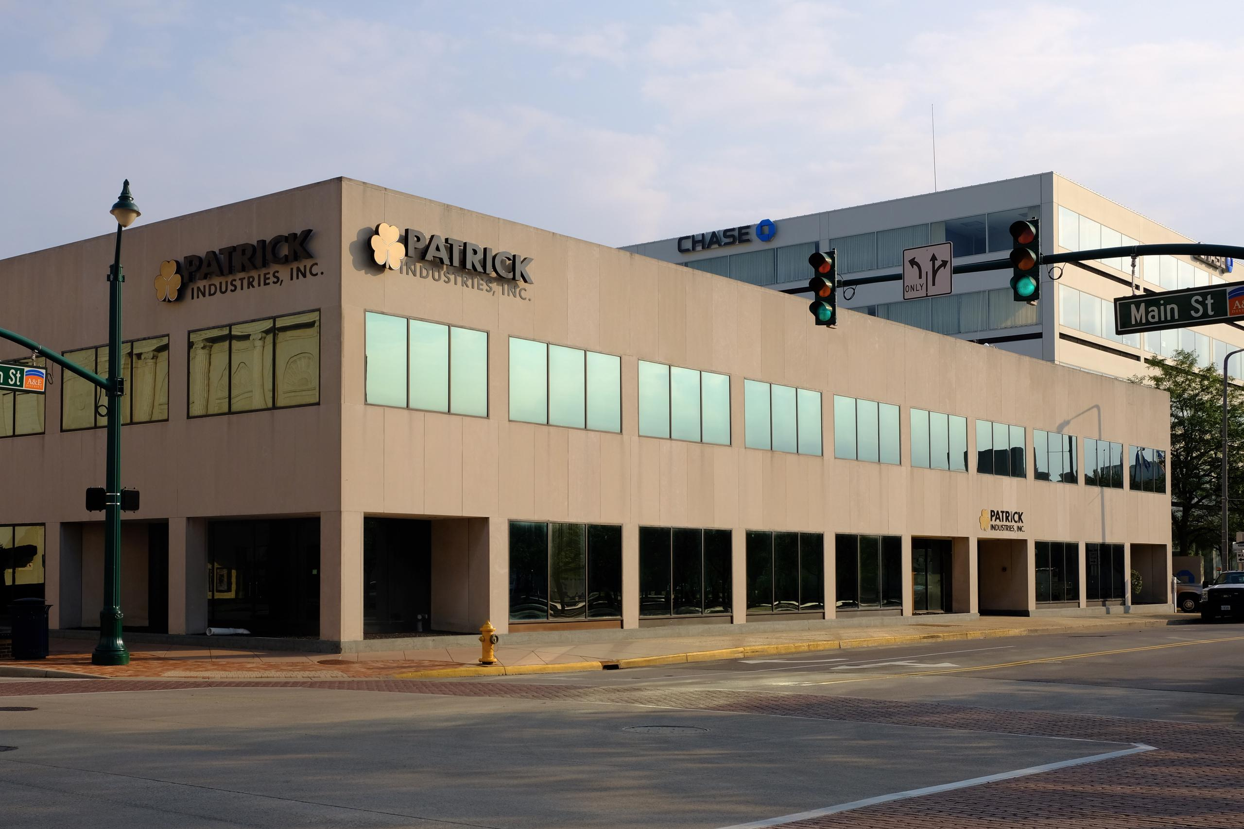 Patrick Industries' corporate headquarters in Elkhart, Indiana.