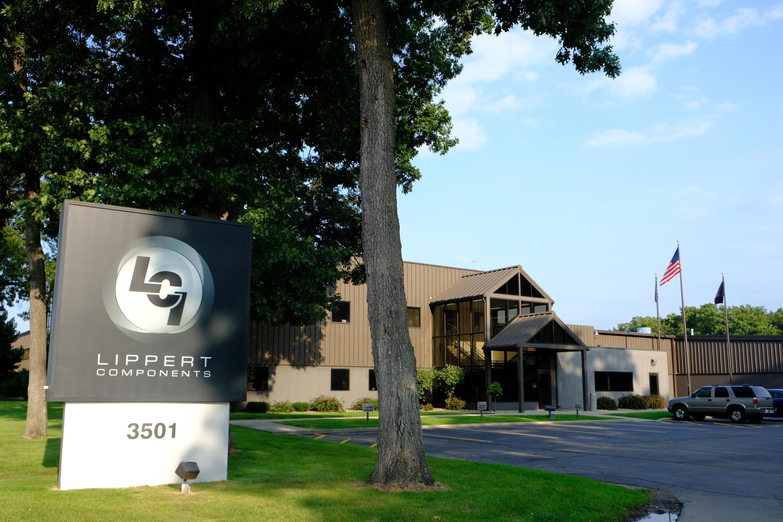 Lippert Components' corporate headquarters in Elkhart, Indiana.