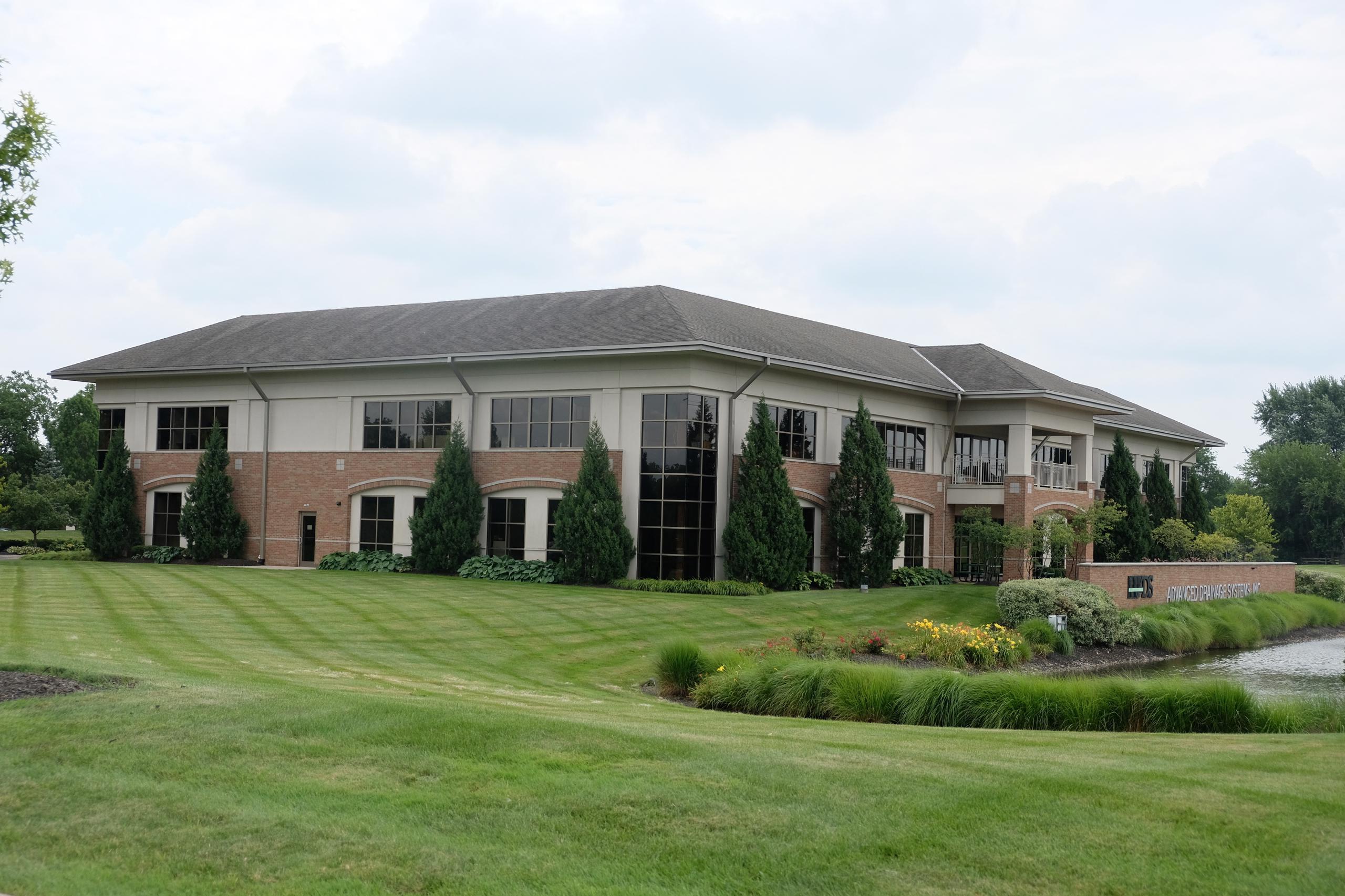 Advanced Drainage Systems' corporate headquarters in Hilliard, Ohio.