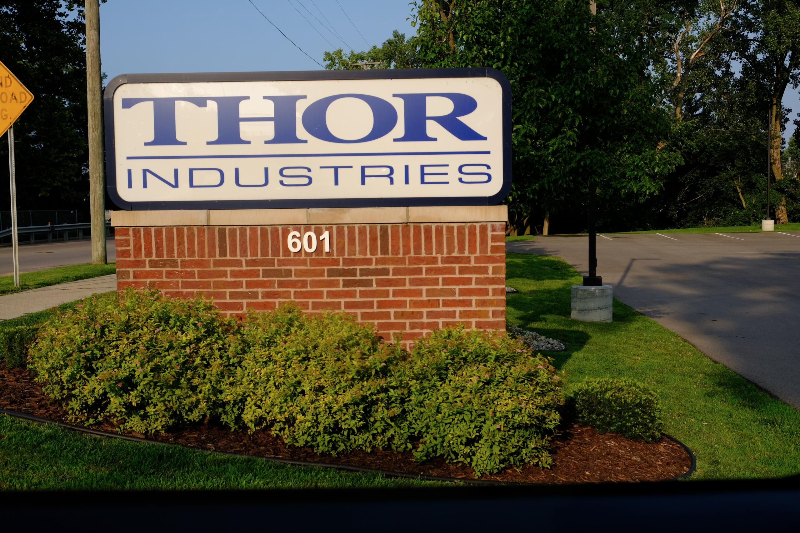Thor Industries' corporate headquarters in Elkhart, Indiana.