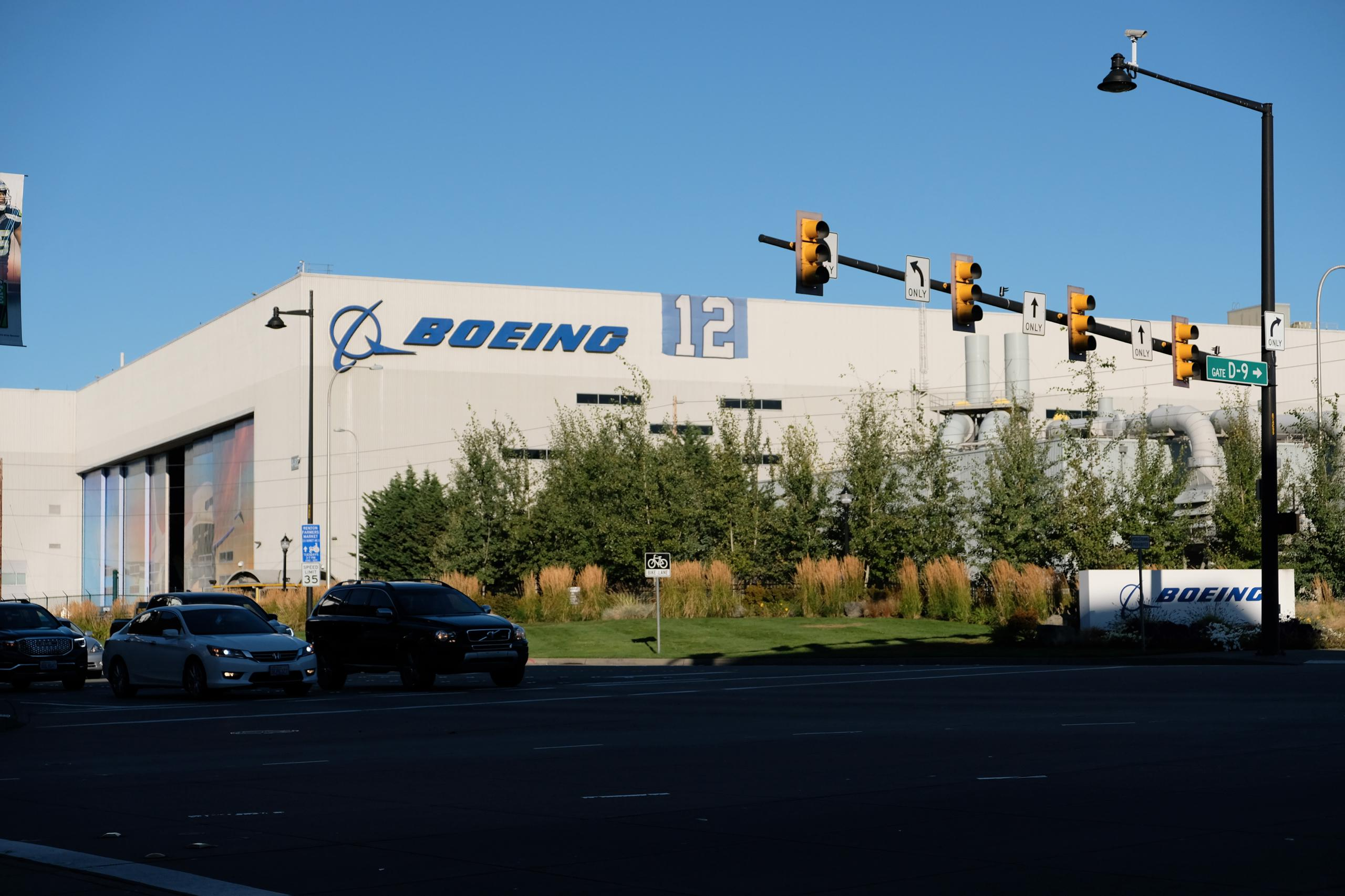 Boeing factory in Bellevue, Washington.