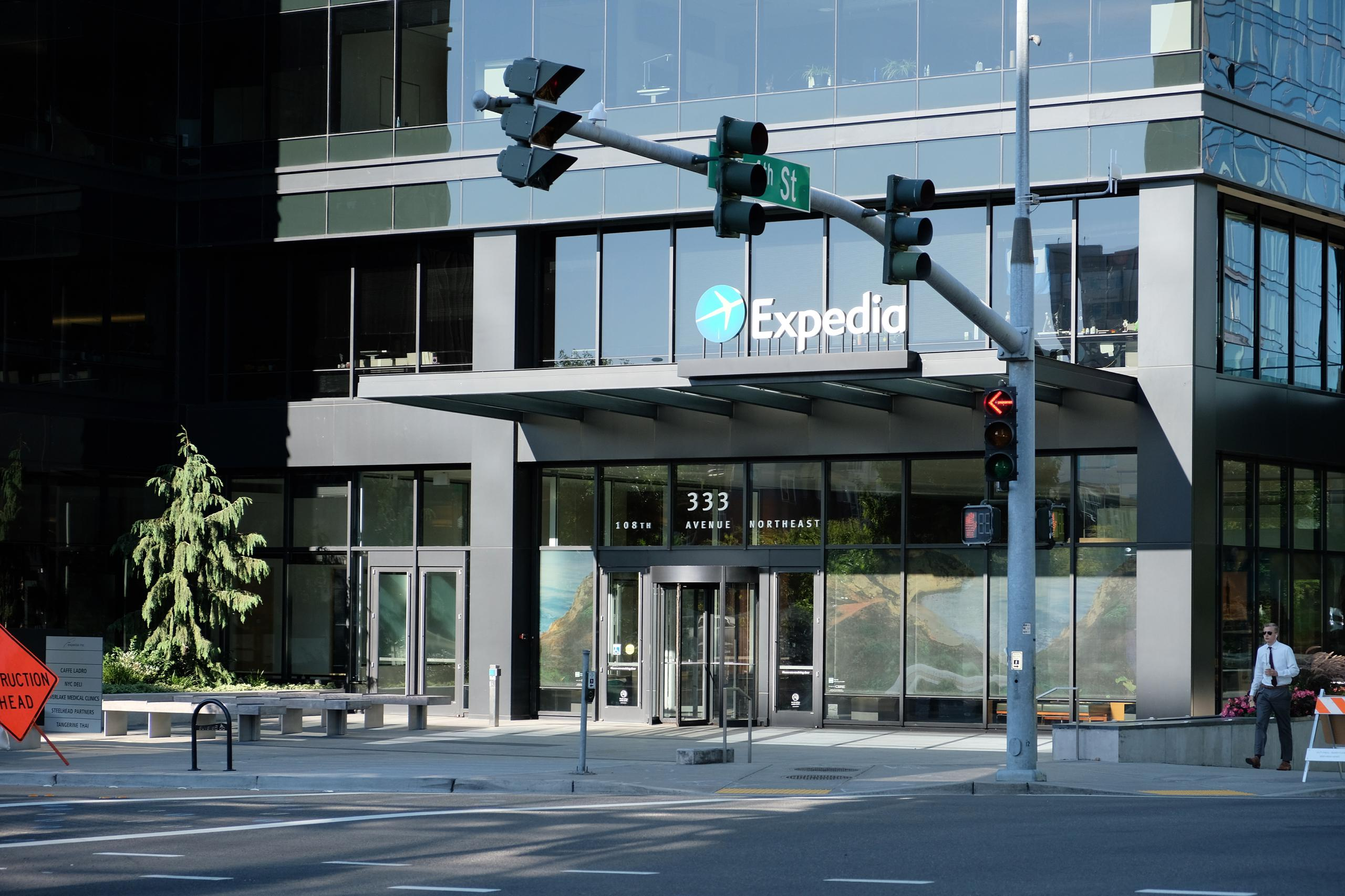 Expedia's corporate headquarters in Bellevue, Washington.