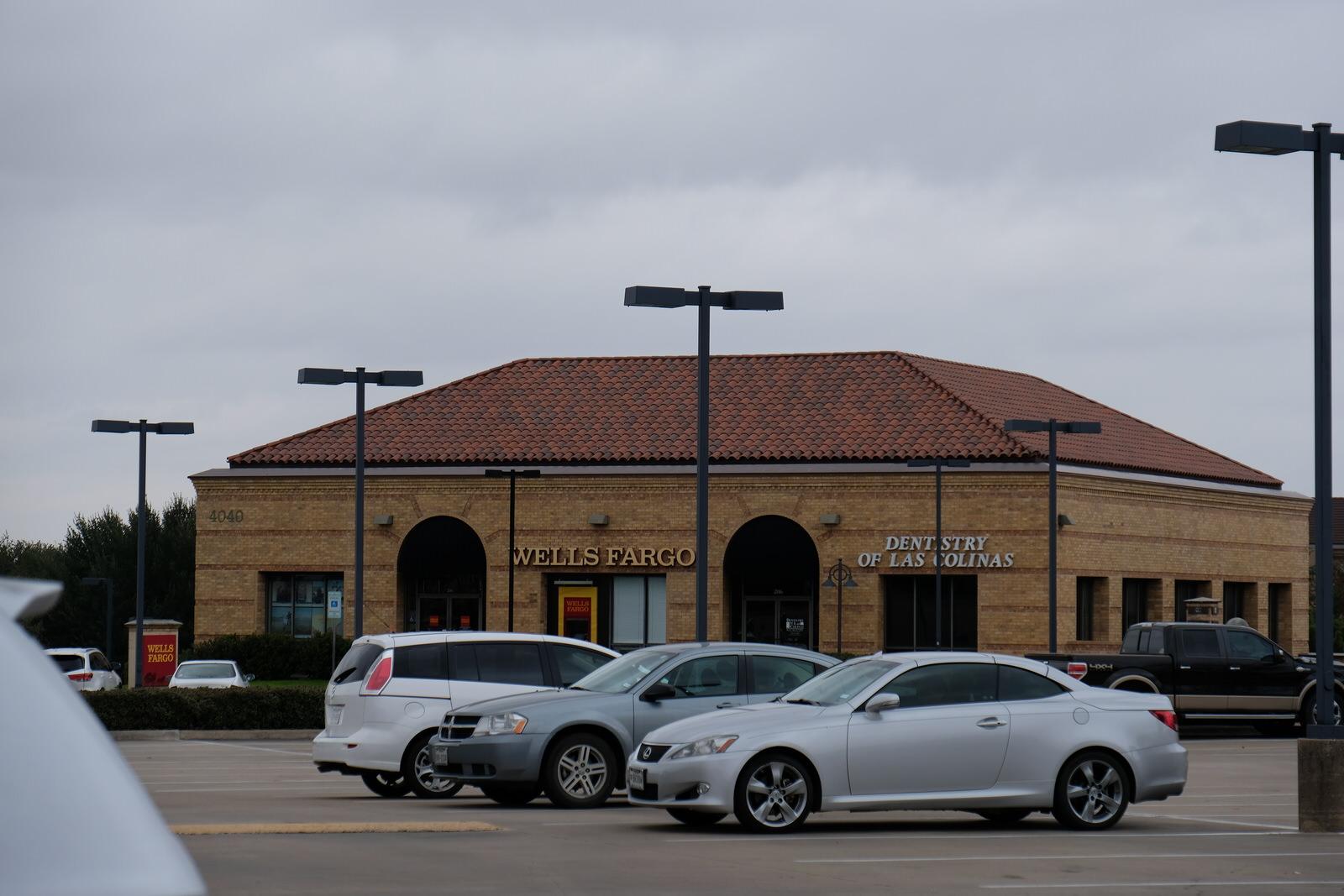 Wells Fargo branch in Irving, Texas.