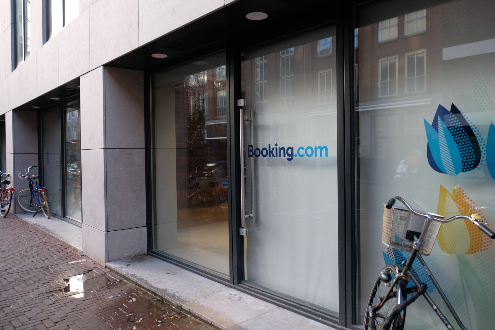 Entrance to Booking office in Amsterdam, the Netherlands.