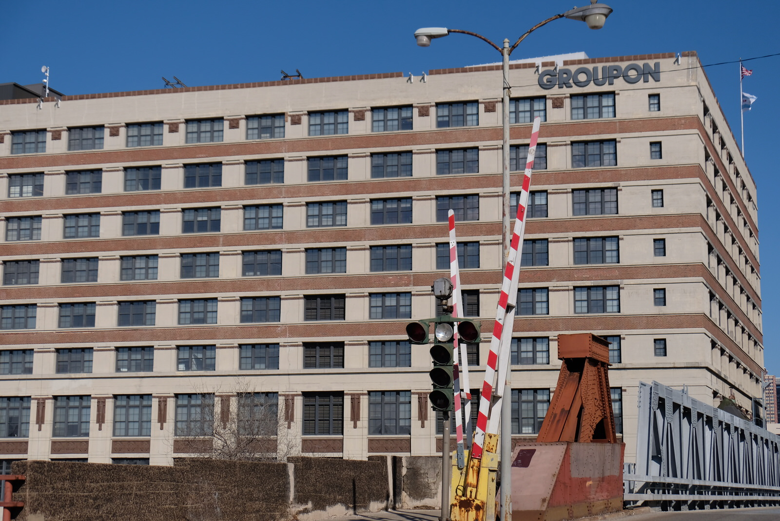 Groupon's corporate headquarters in Chicago, Illinois.
