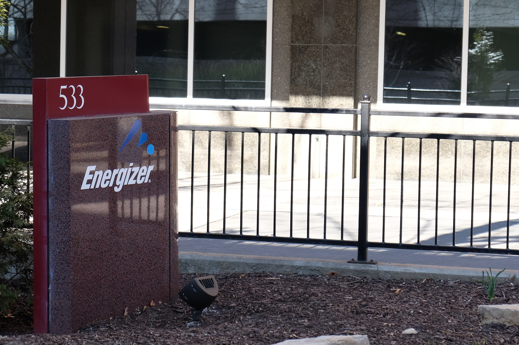 Entrance to Energizer's corporate headquarters in St. Louis, Missouri.