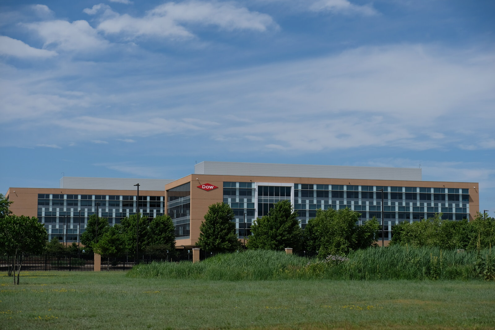 Dow Chemical's corporate headquarters in Midland, Michigan.