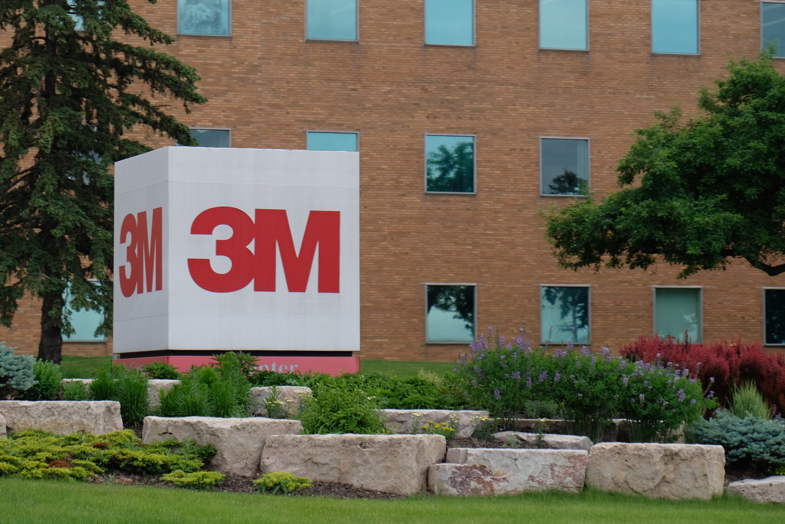 Entrance to 3M's corporate campus in St. Paul, Minnesota.