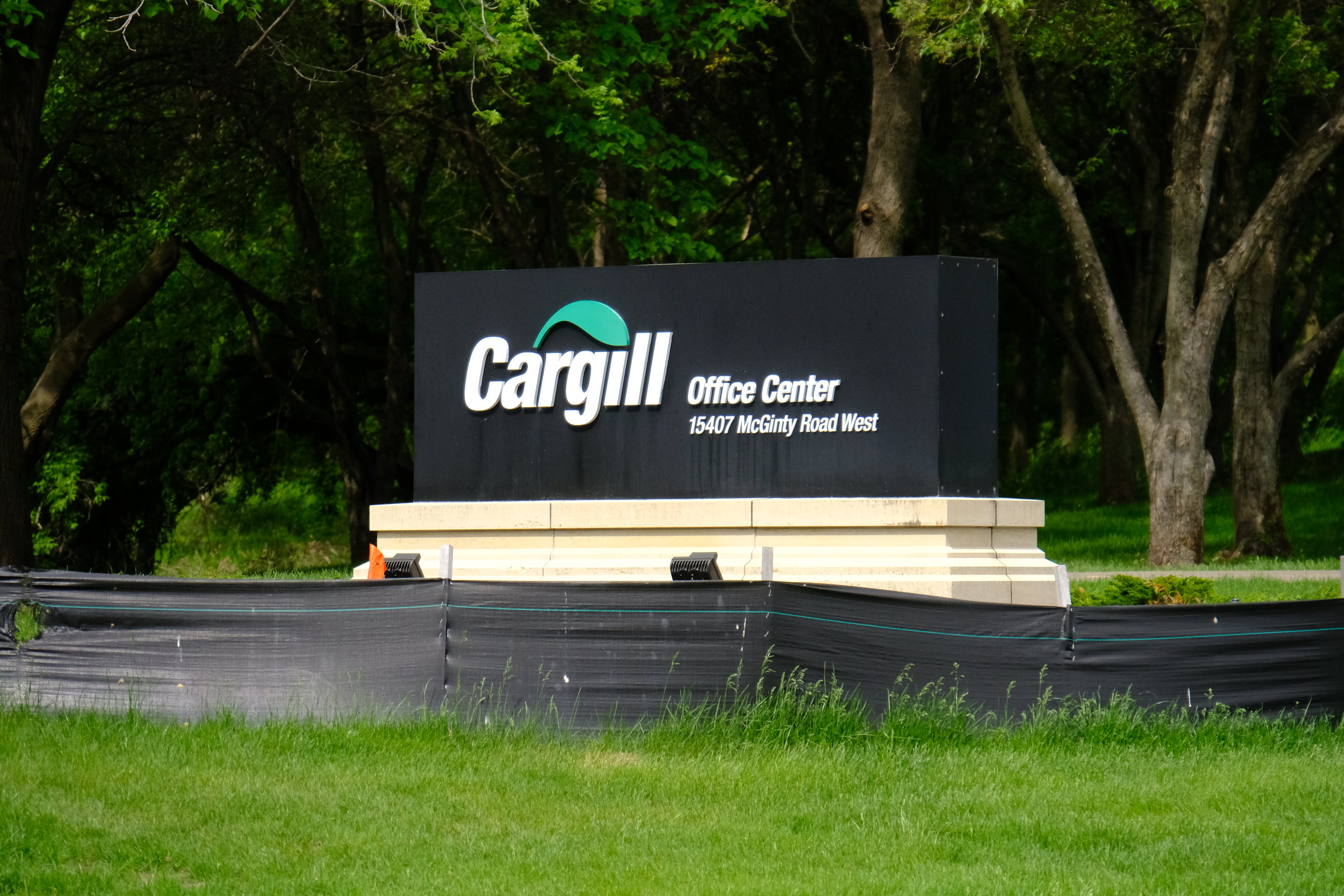 Entrance to Cargill's corporate headquarters in Wayzata, Minnesota.