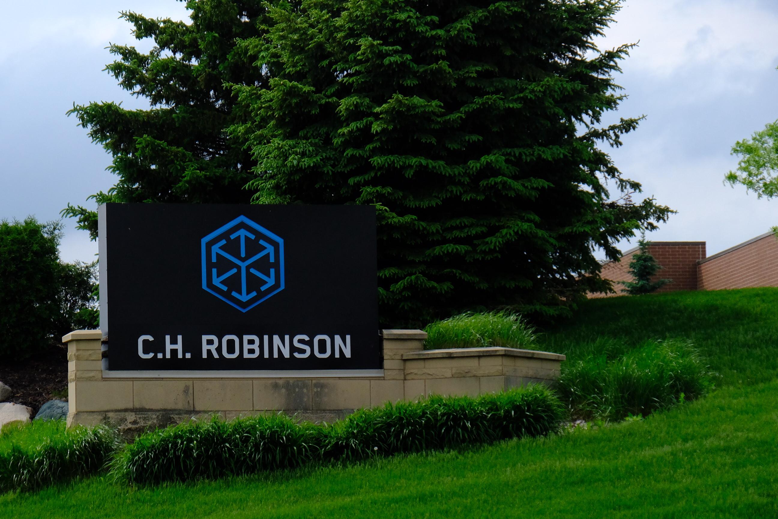 Entrance to C.H. Robinson's corporate headquarters in Eden Prairie, Minnesota.