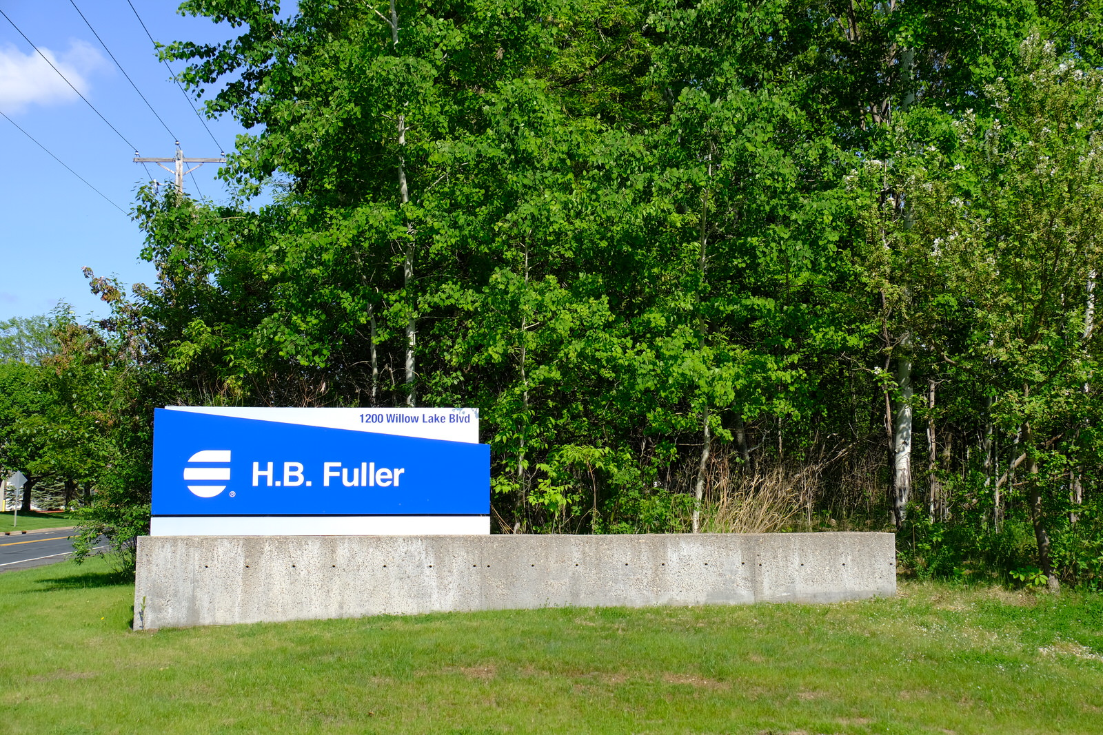 Entrance to H.B. Fuller's corporate headquarters in St. Paul, Minnesota.