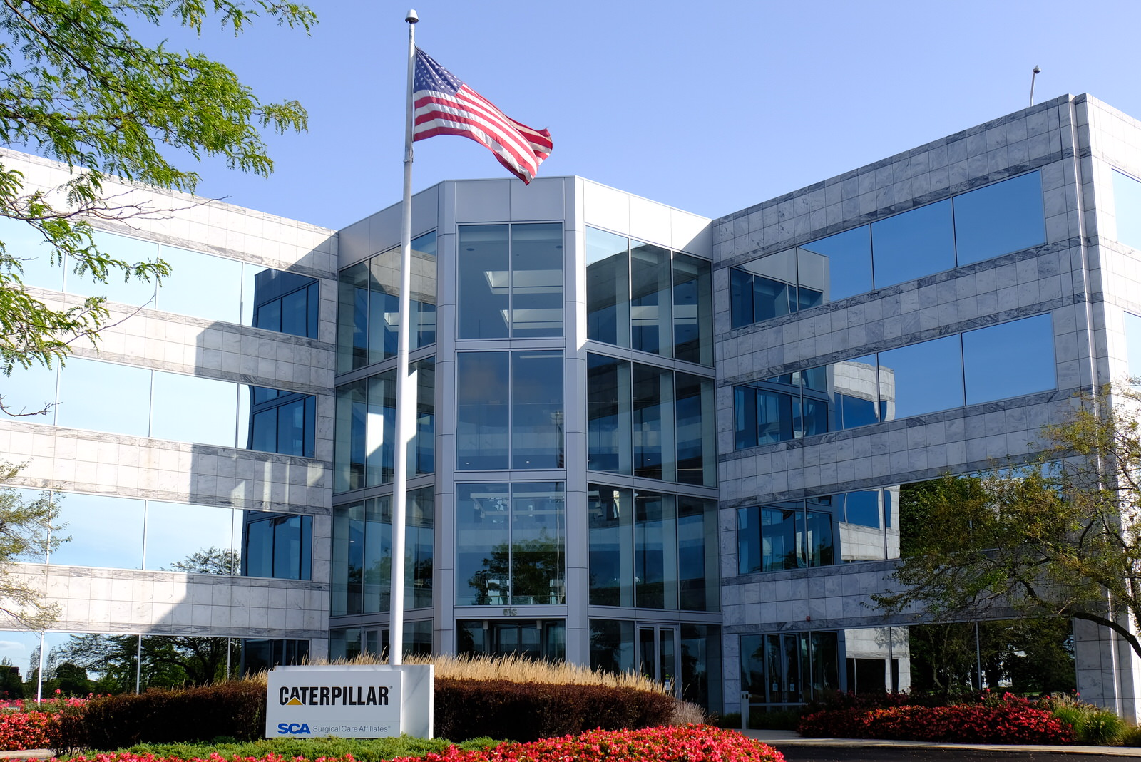 Caterpillar's corporate headquarters in Deerfield, Illinois.