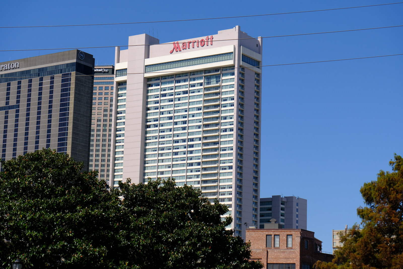 Marriott hotel in downtown New Orleans, Louisiana.